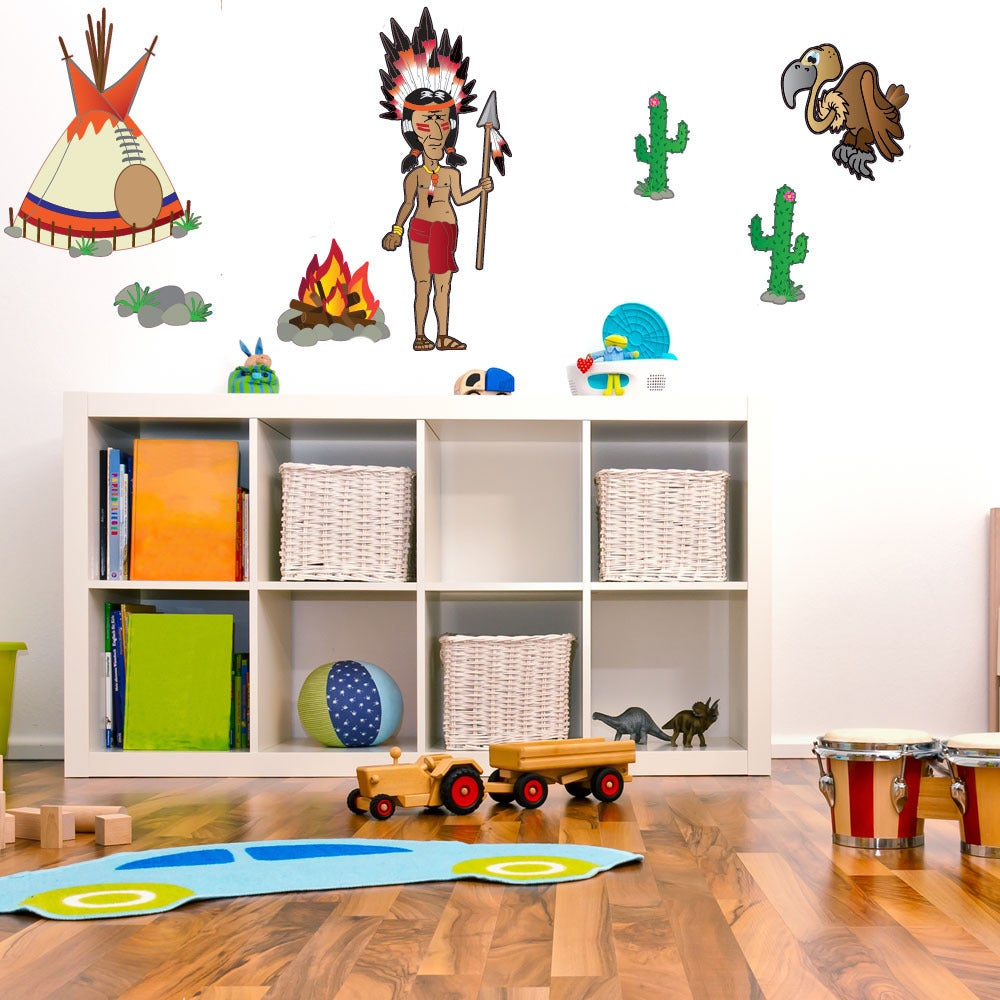 Colorful Native American Themed Decal Set On Free Shipping Today 10031485