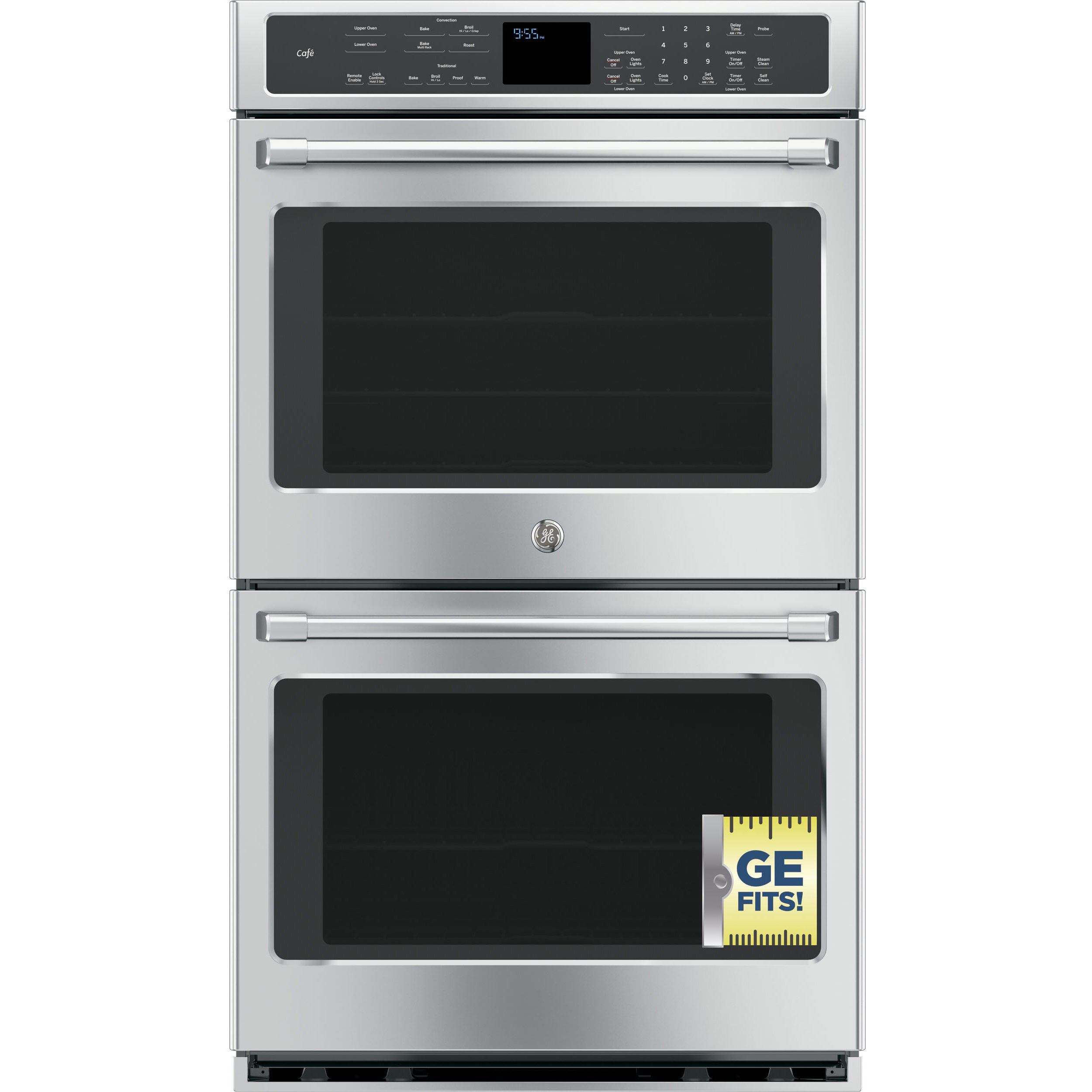 Ge Cafe Series Ct9550shss Stainless Steel 30 Inch Double Wall Oven Free Shipping Today 10031546