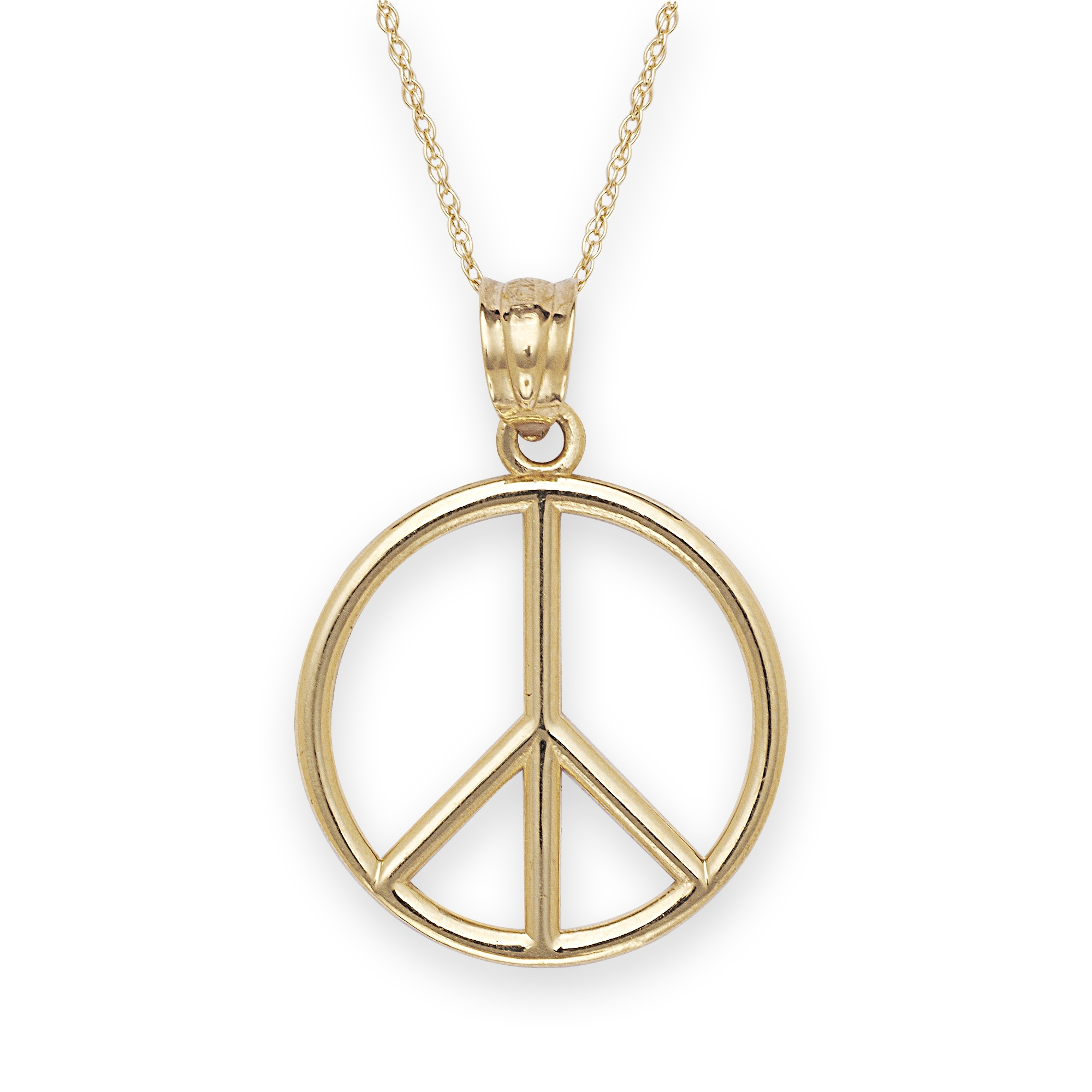 necklace overstock watches free peace jewelry product sign shipping today pendant fremada gold