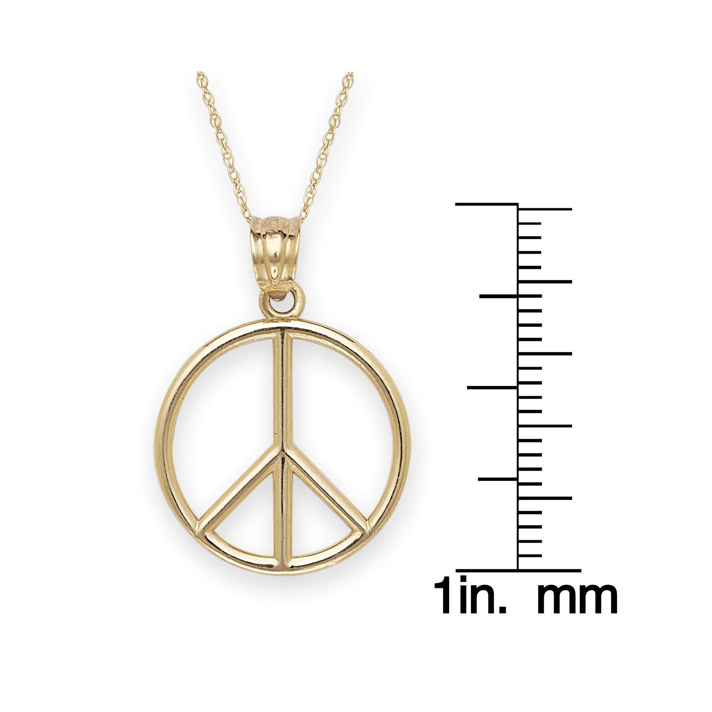 14k gold bold peace sign necklace free shipping today overstock 14k gold bold peace sign necklace free shipping today overstock 17176742 buycottarizona Gallery