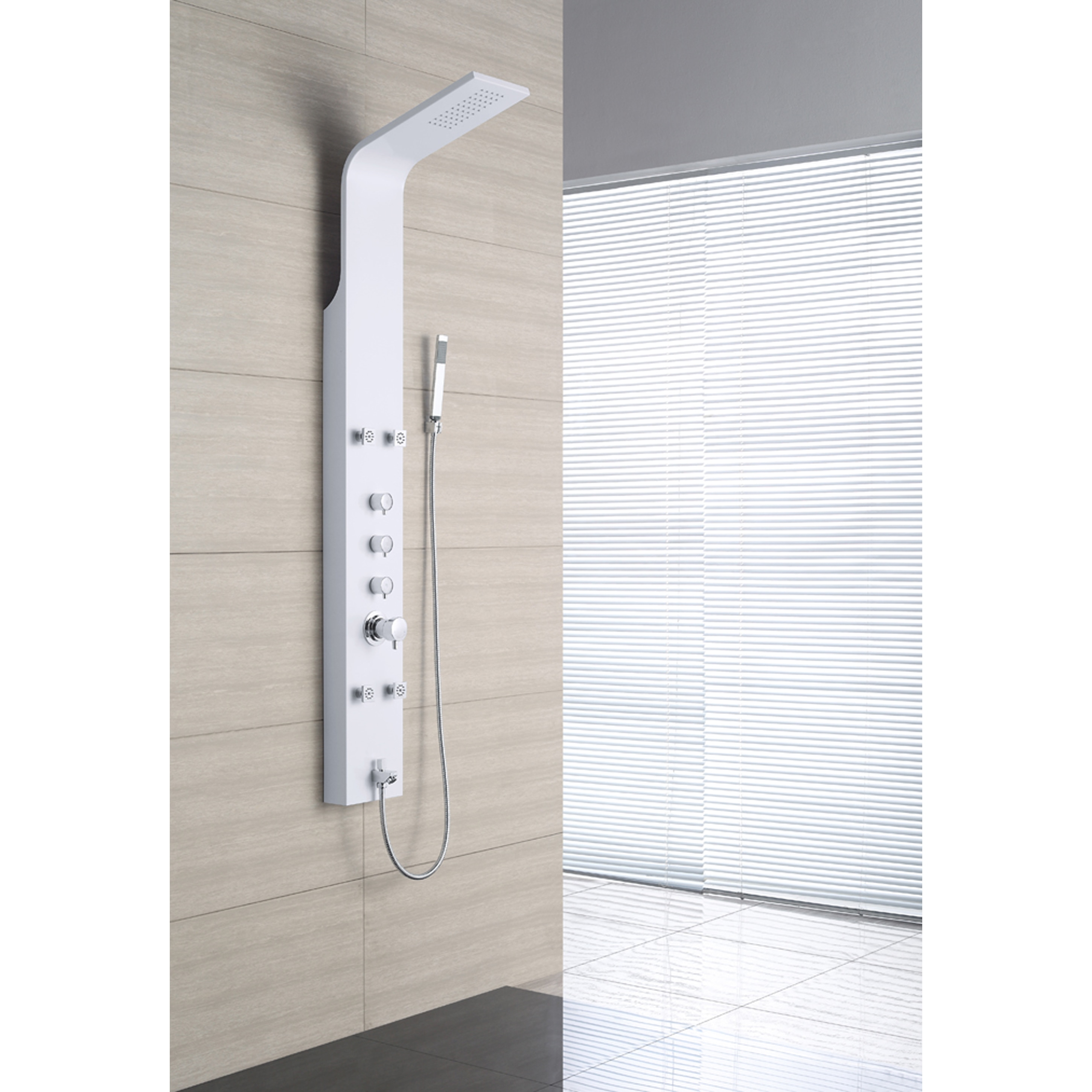 OVE Decors OSC-23 4-Jet Shower Tower System in White - Free ...
