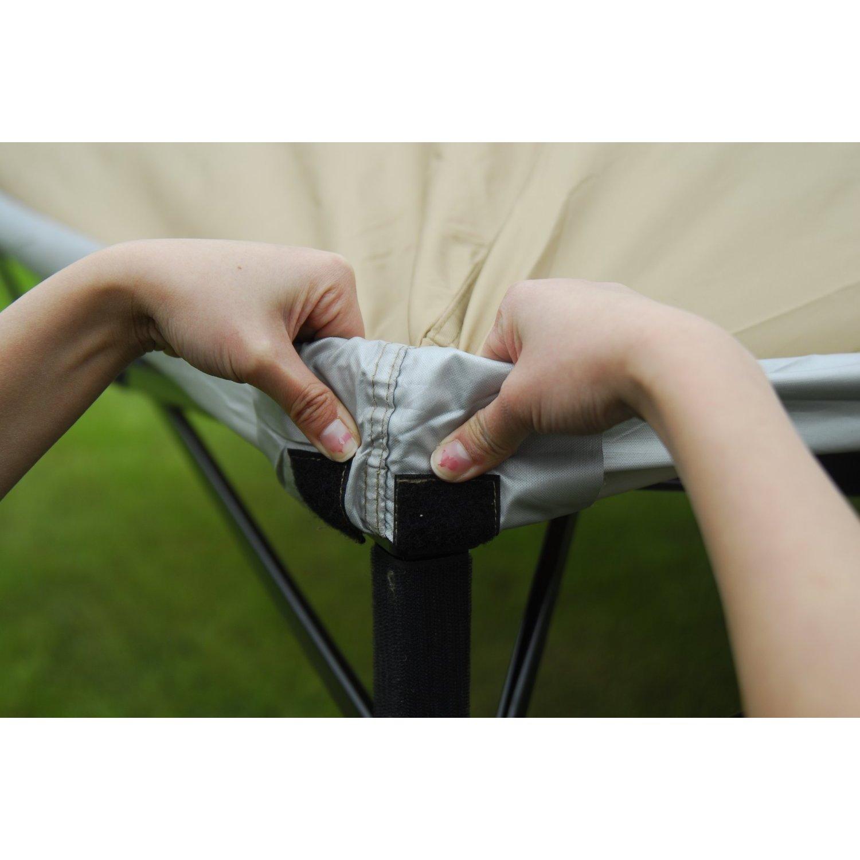 Abba Patio Khaki 10x10 Foot Outdoor PortableCanopy Tent Free