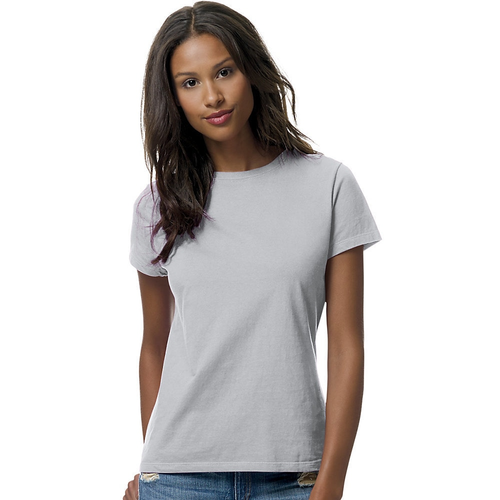 be1c4d7bd Shop Hanes womens 100% Ringspun Cotton nano-T® T-Shirt (SL04) - Free  Shipping On Orders Over $45 - Overstock - 10035362