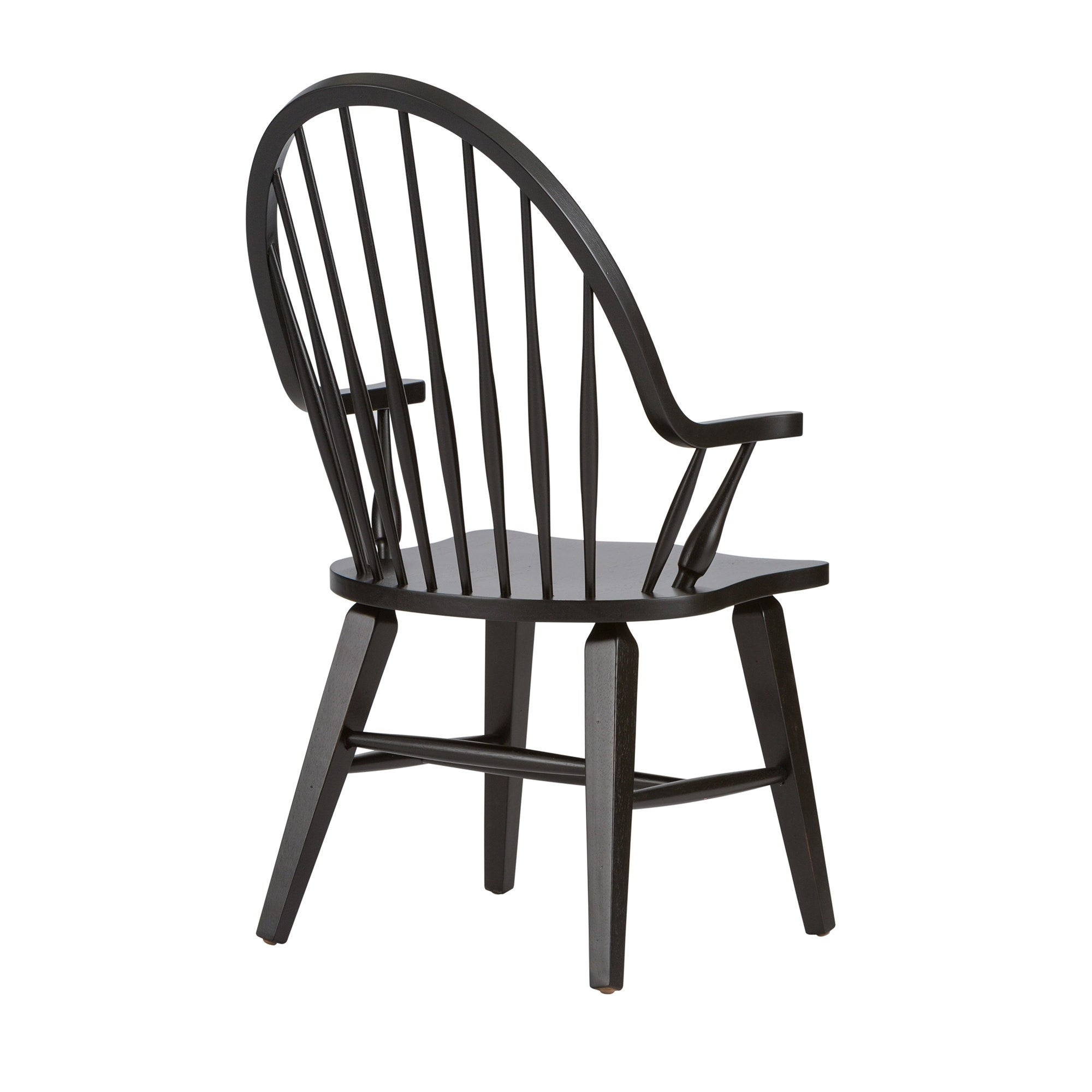 Beau Shop Hearthstone Traditional Rustic Black Windsor Arm Chair   Free Shipping  Today   Overstock.com   10036393
