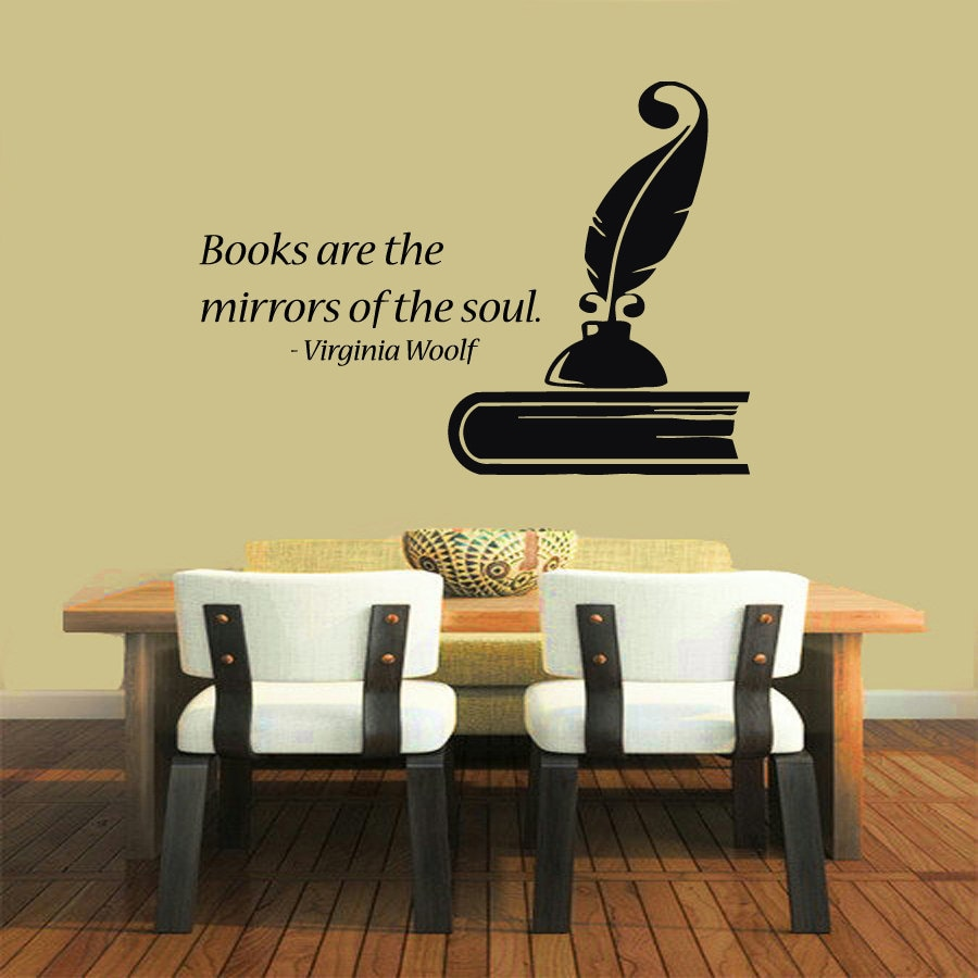 Shop Books Are The Mirrors Of The Soul Quote Vinyl Sticker Wall Art ...