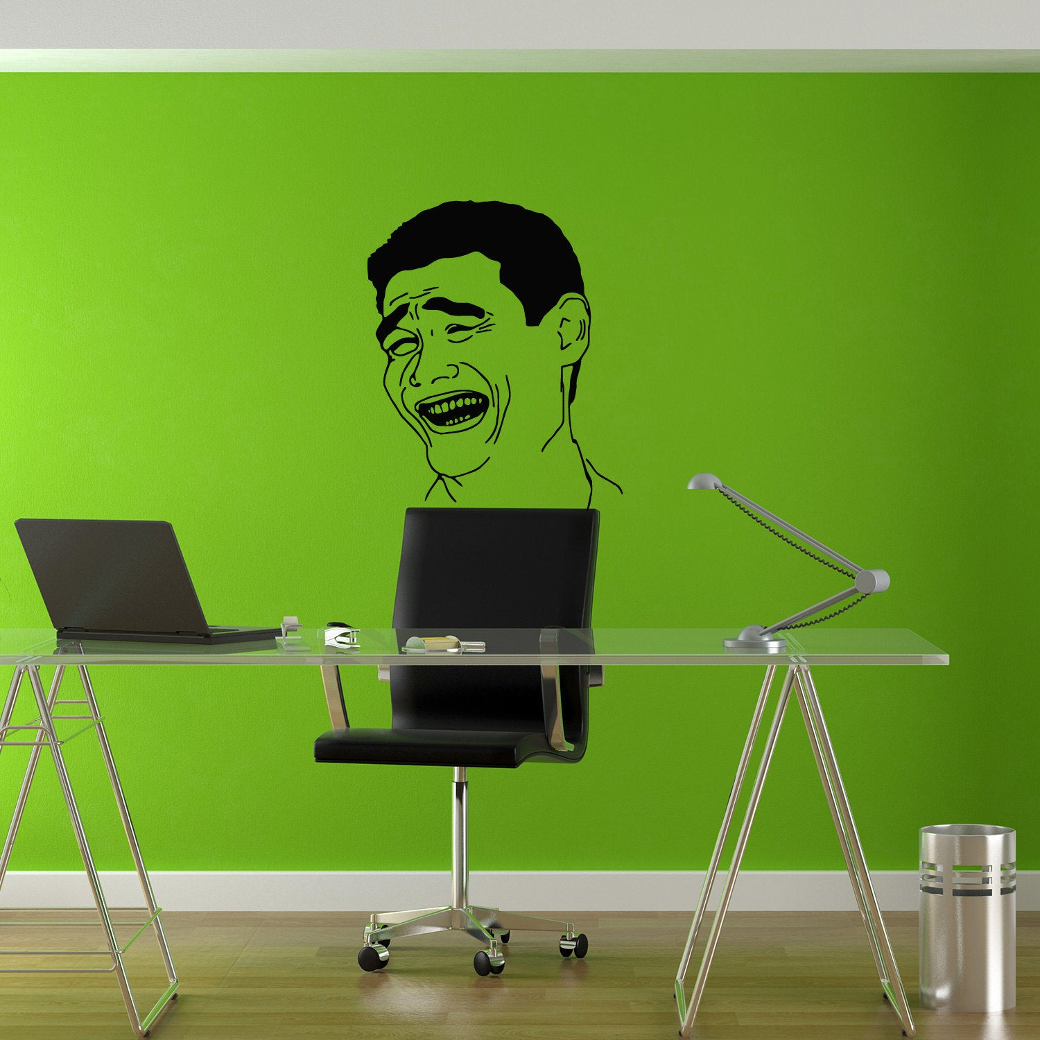 Shop troll face please meme funny decal sticker vinyl wall art free shipping on orders over 45 overstock com 10037172