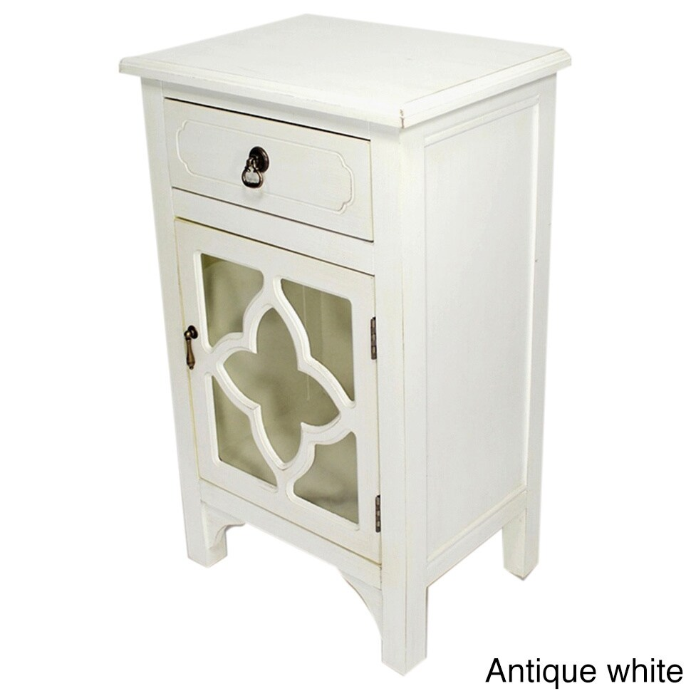 Shop Heather Ann Single Drawer Single Door Cabinet With Glass