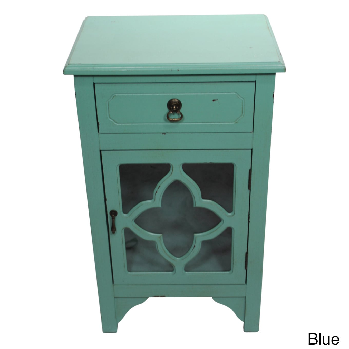 Shop Heather Ann Single Drawer, Single Door Cabinet with Glass ...