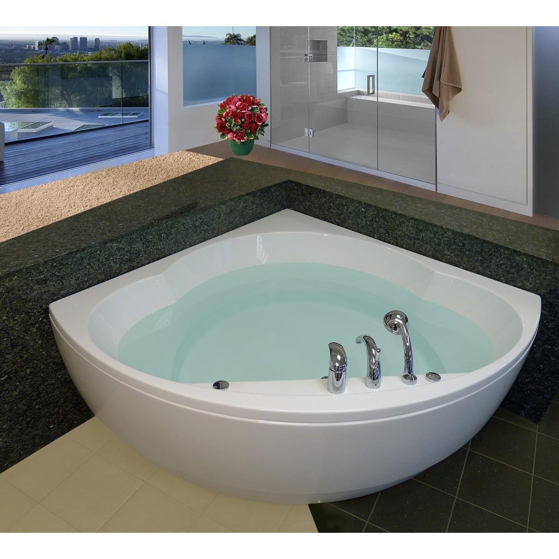 Shop Aquatica Cleopatra-Wht Corner Acrylic Bathtub - Free Shipping ...
