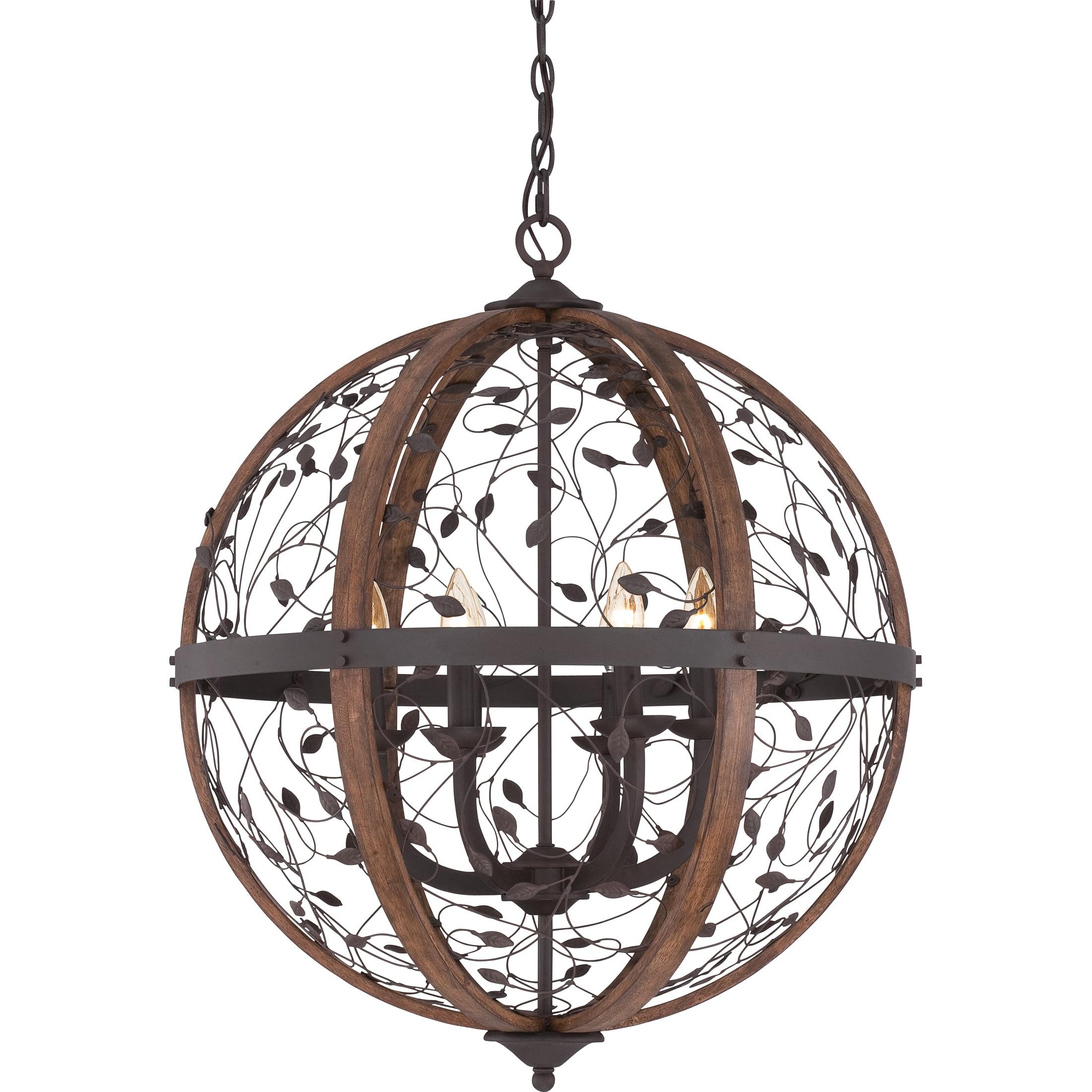 Quoizel Chamber 6 light Darkest Bronze Cage Chandelier Free