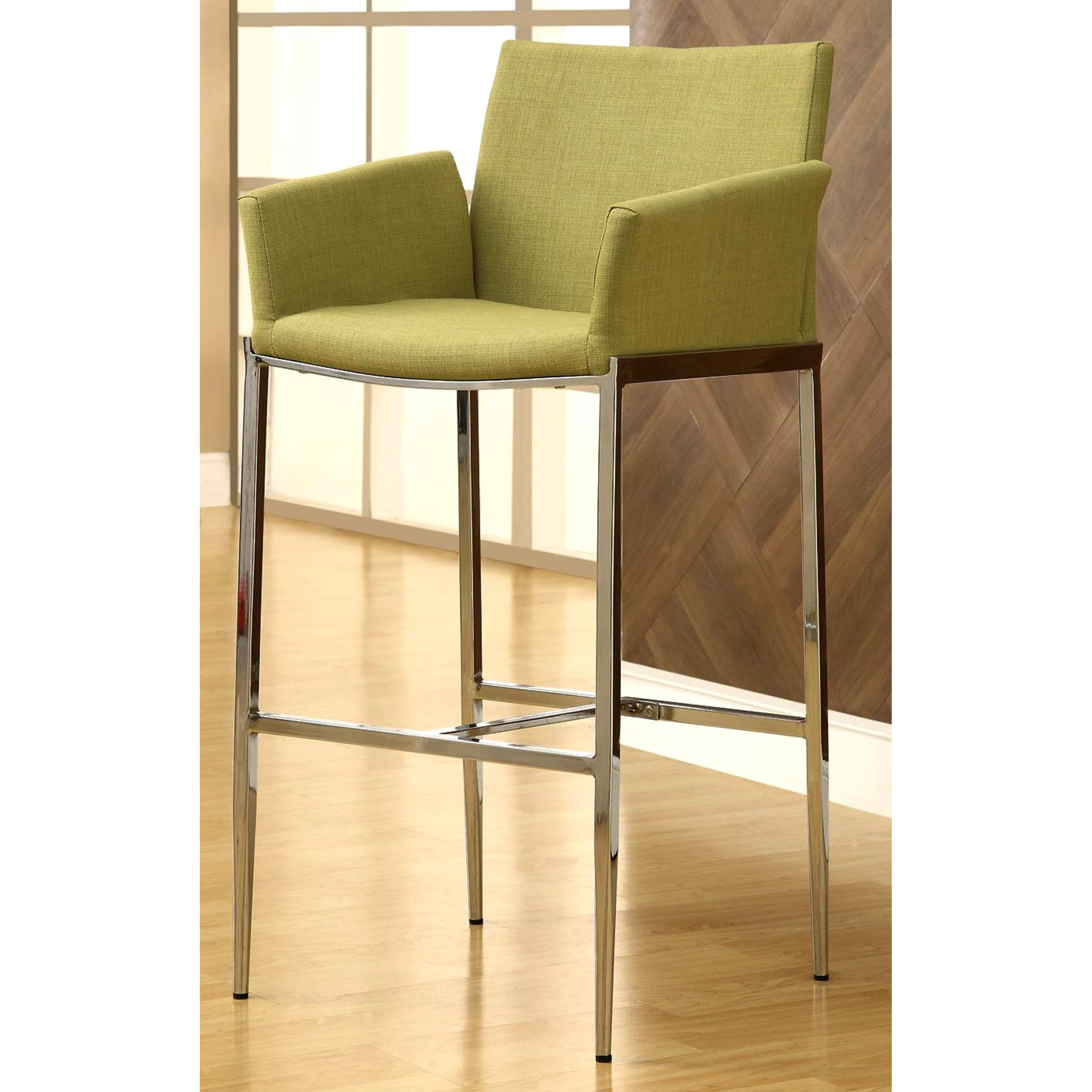 Shop Mcguire Upholstered Bar Stools With Chrome Legs (Set Of 2)   Free  Shipping Today   Overstock.com   10042587