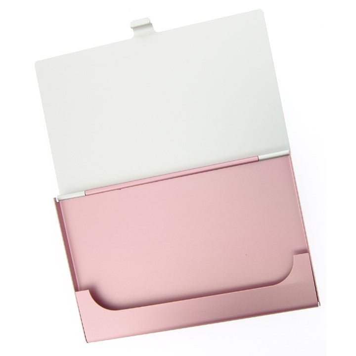 Visol Pink Aluminum Business Card Case - Free Shipping On Orders ...