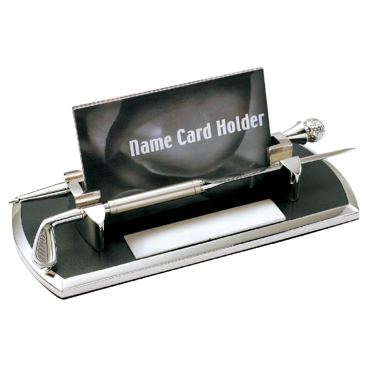 Shop Visol Distance Golf Themed Chrome Plated Business Card Case ...