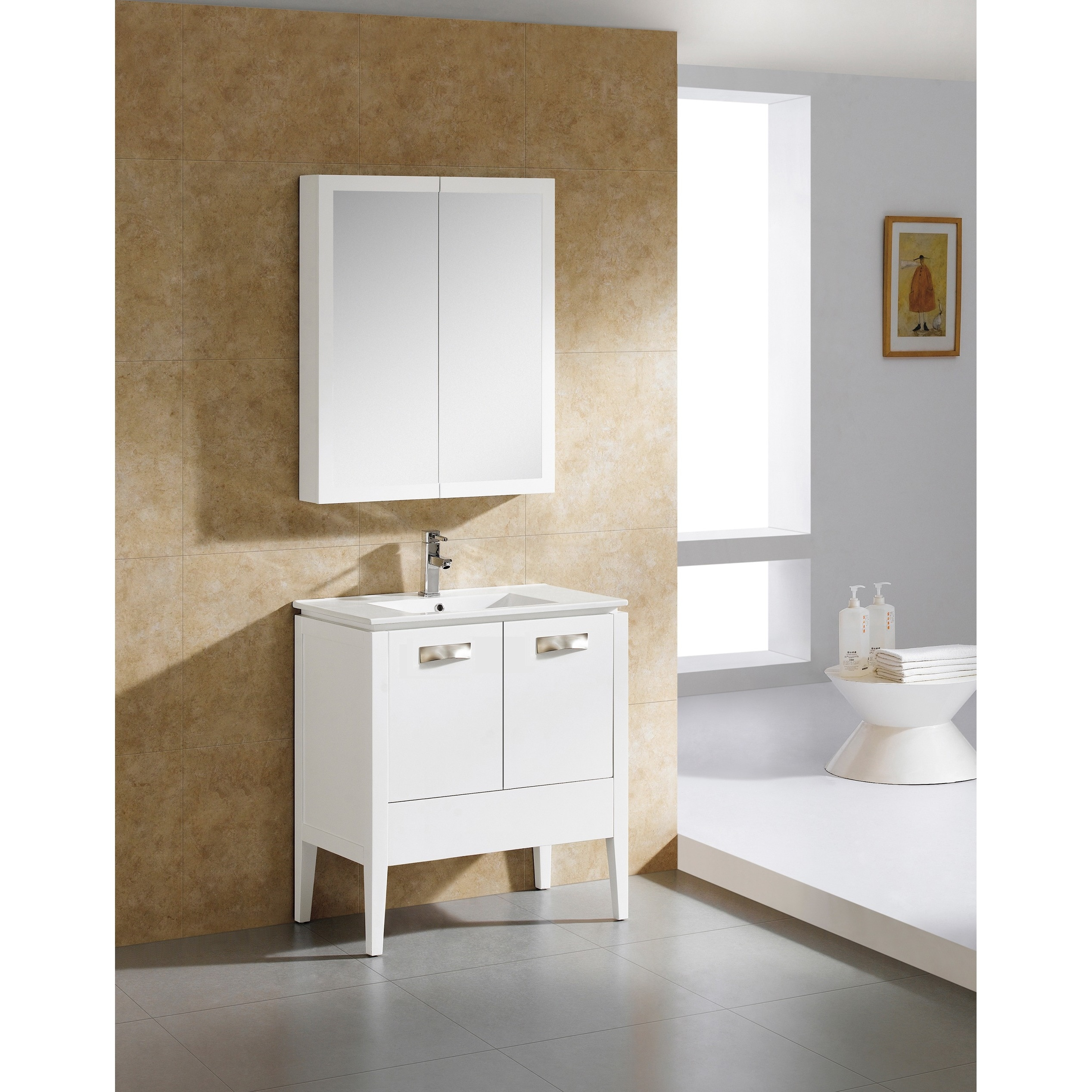 Shop Fine Fixtures Manchester 30-inch Vanity with Vitreous China ...