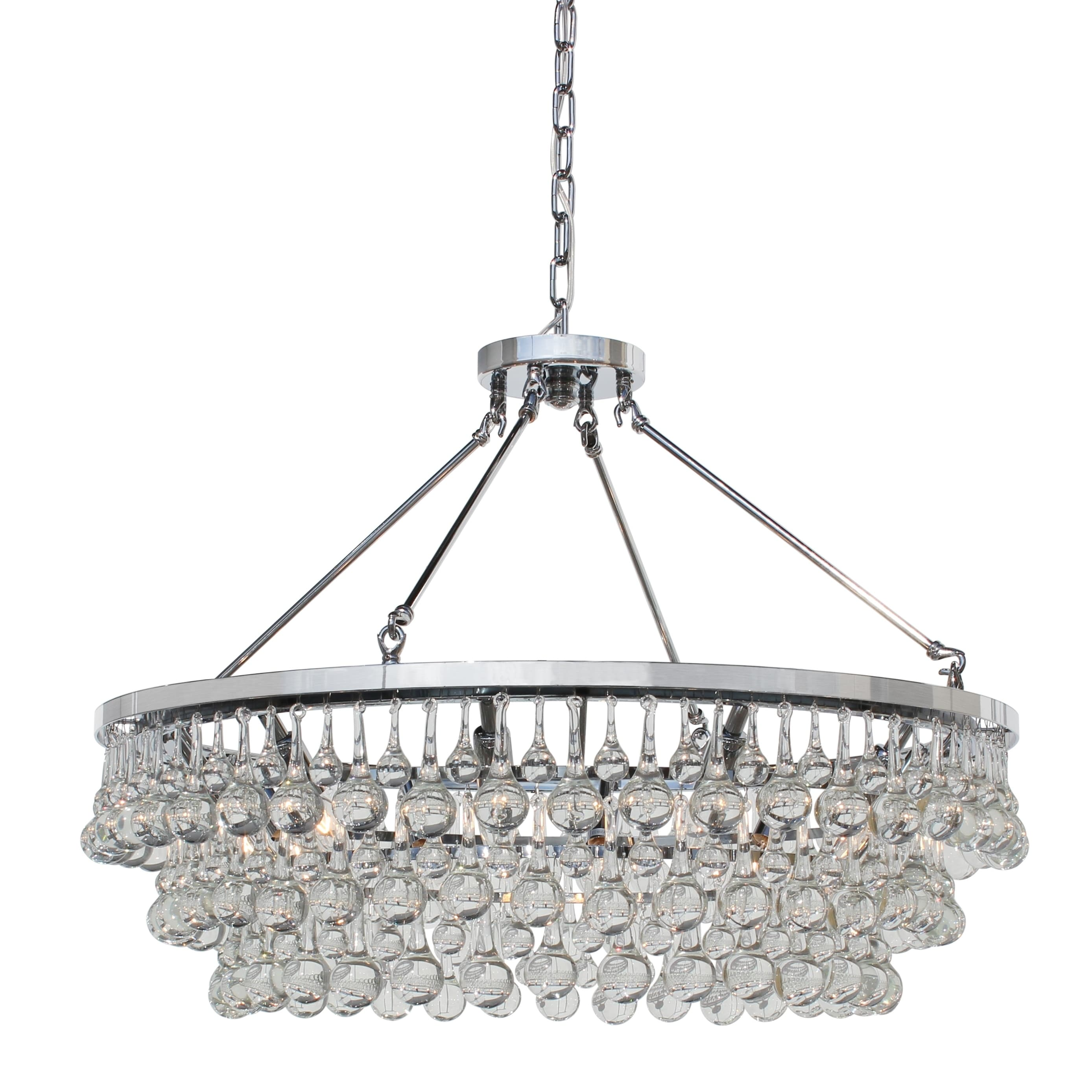 Celeste 10 Light Gl And Crystal Chrome Chandelier On Free Shipping Today 10043379