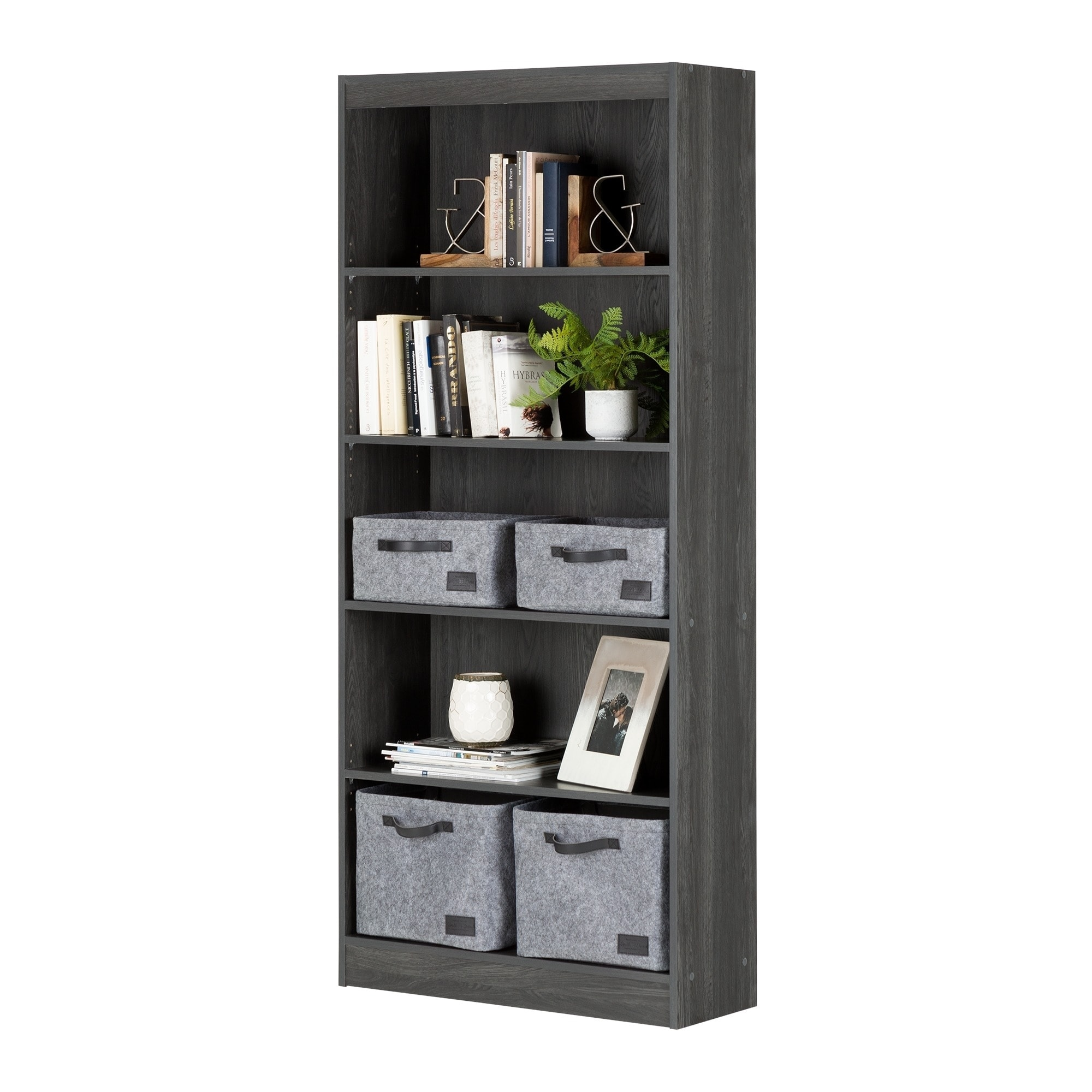 South Shore Furniture Wood 5 Shelf Bookcase   Free Shipping Today    Overstock   17190441