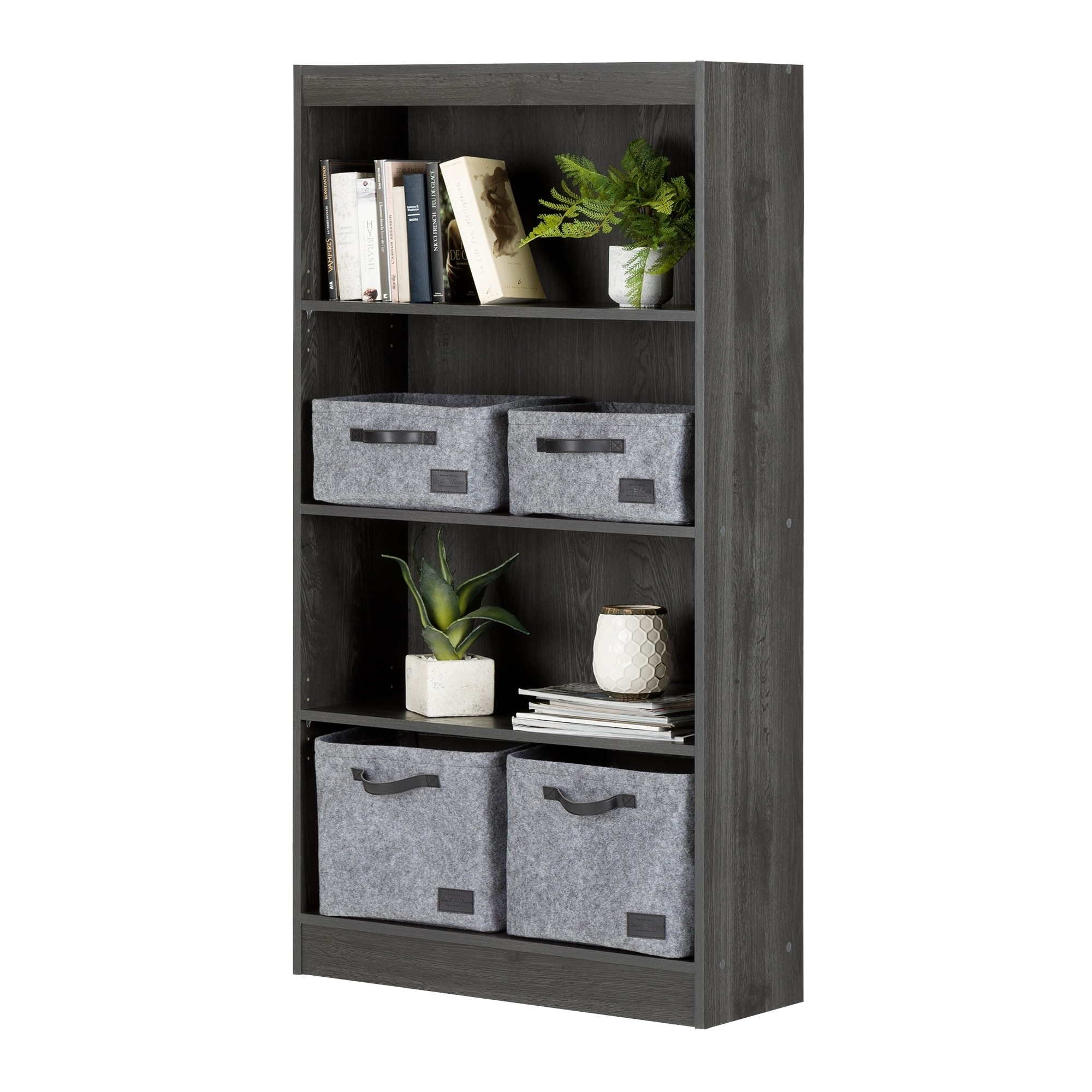 South Shore Axess 4 Shelf Bookcase   Free Shipping Today   Overstock.com    17190445
