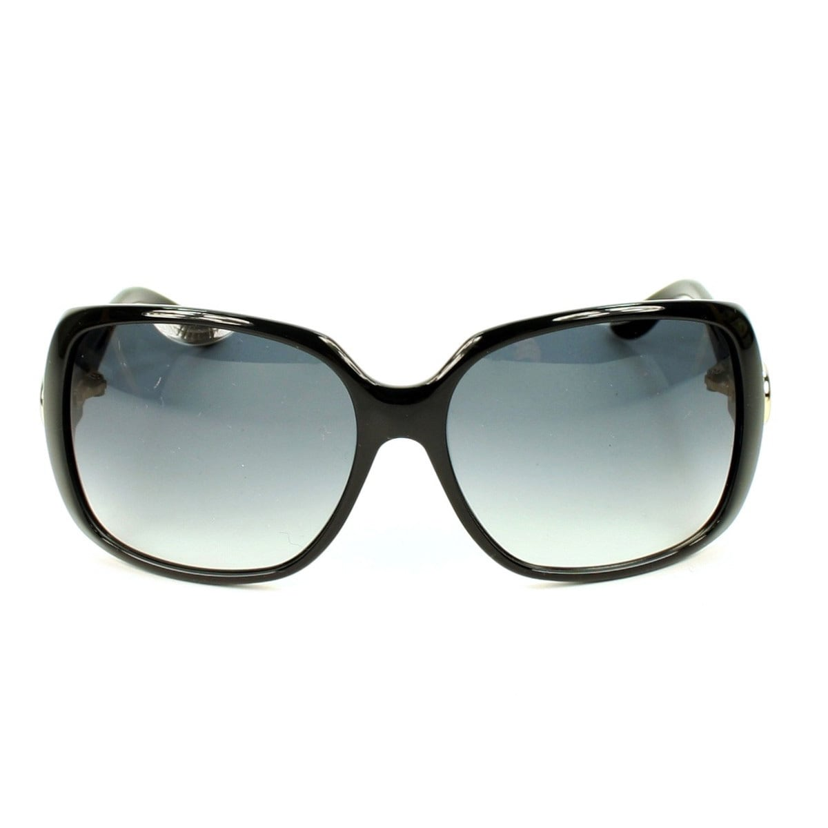 a739e59a4d8 Shop Gucci Women s GG 3166 S Shiny Black Plastic Rectangular Sunglasses -  Large - Free Shipping Today - Overstock - 10045832