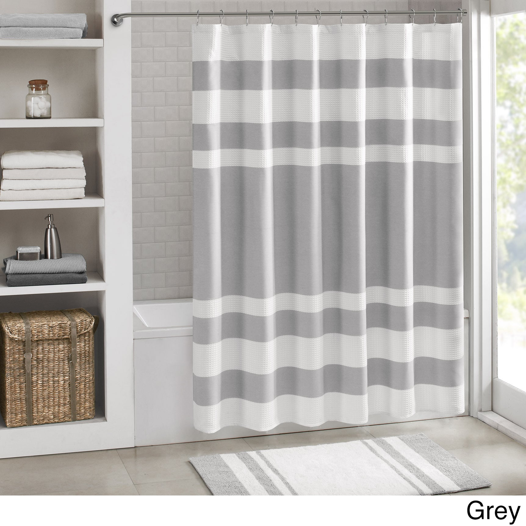 curtain main x weave spa shower luxury home waffle hotelwaffle curtains in white zenna