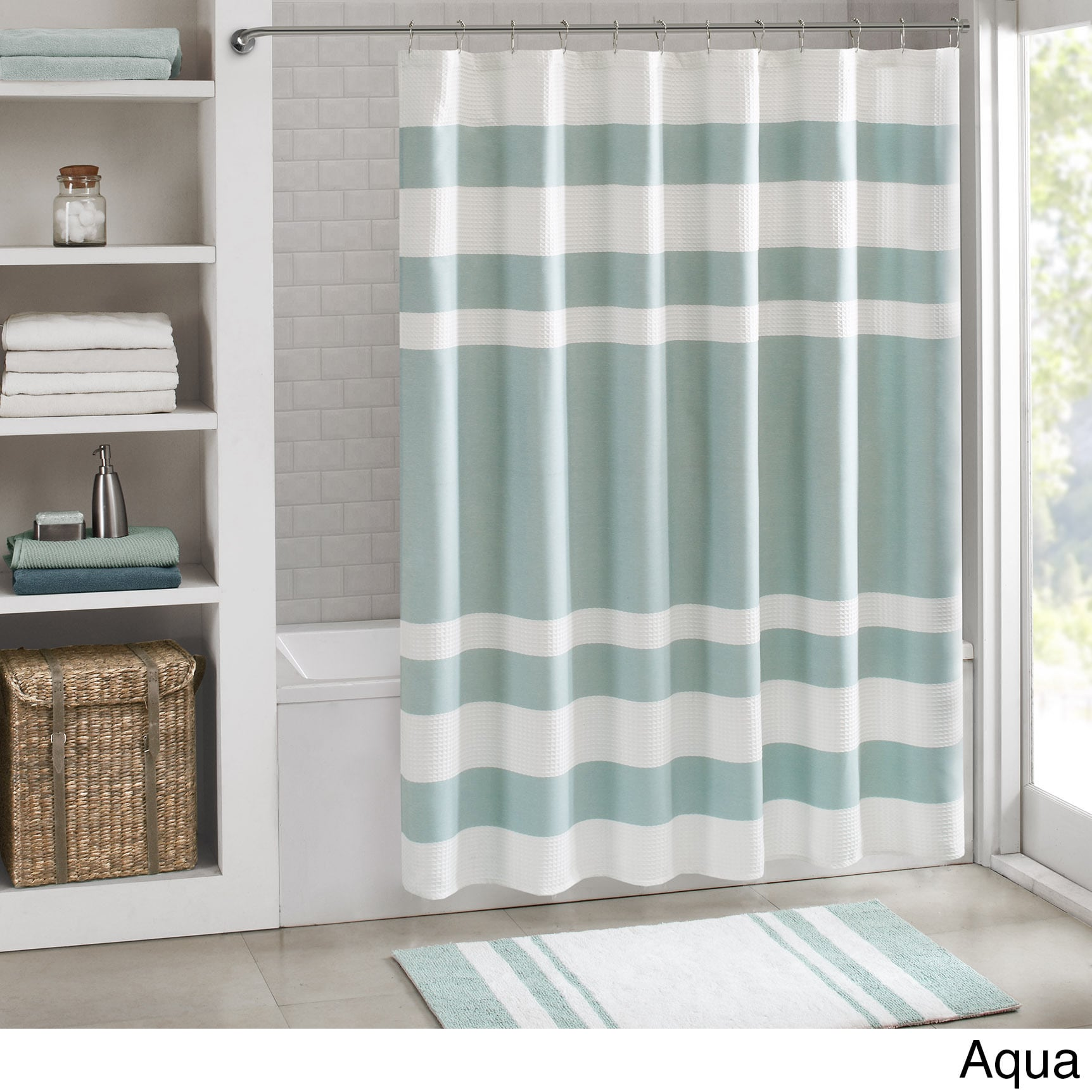 grey and coral shower curtain. Madison Park Spa Waffle Shower Curtain with 3M Treatment  Free Shipping On Orders Over 45 Overstock com 17191023