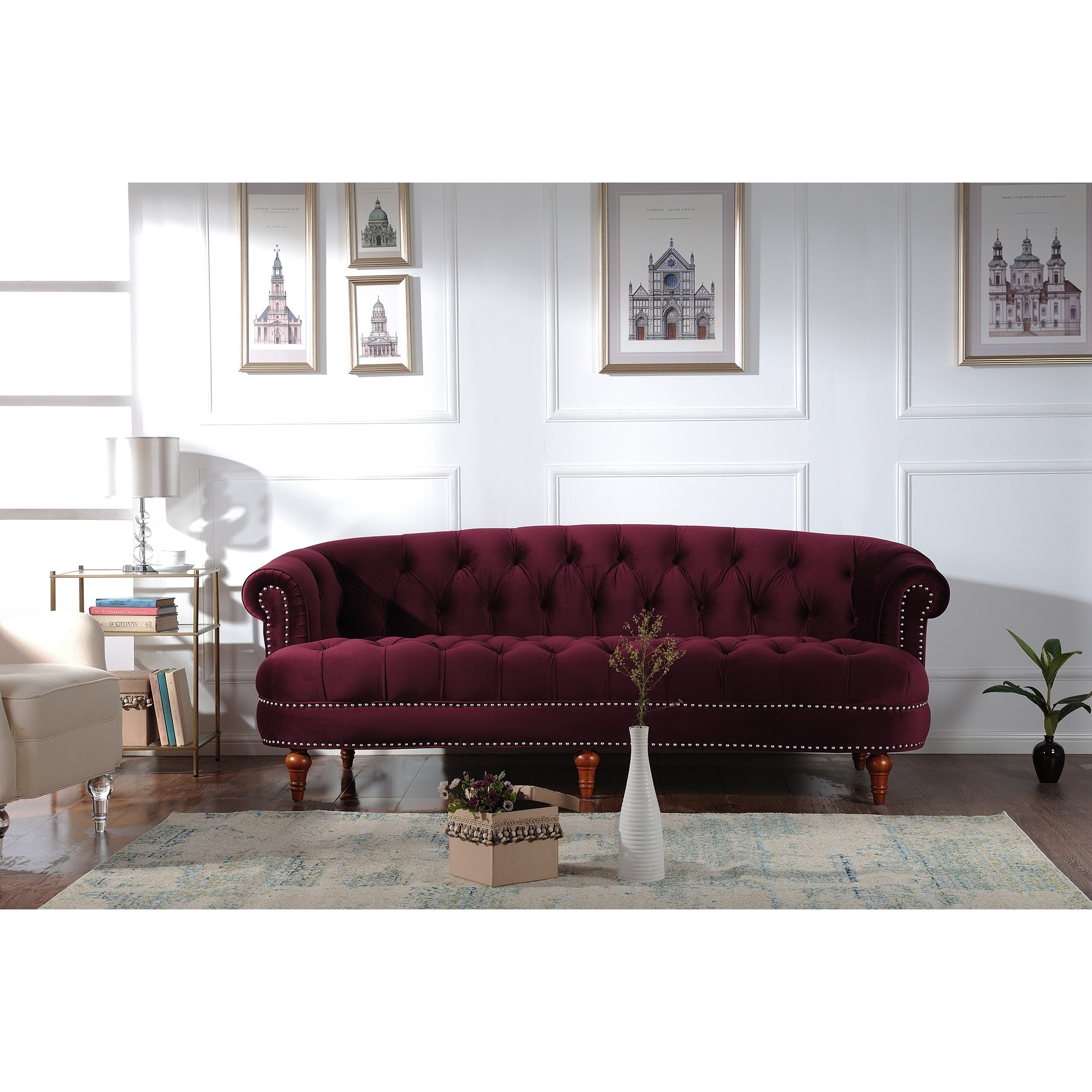Jennifer Taylor La Rosa Chesterfield Sofa - Free Shipping Today ...