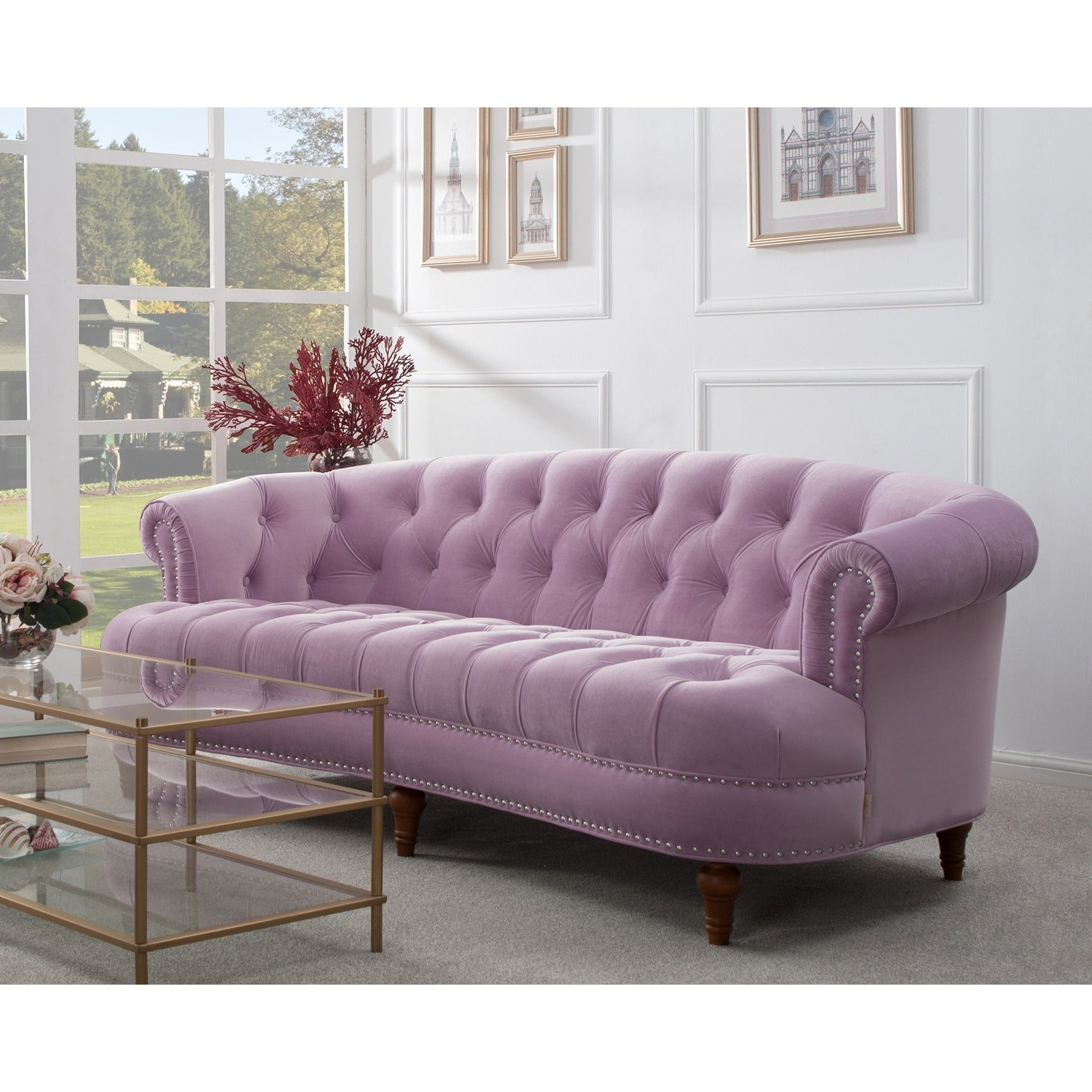 Shop Jennifer Taylor La Rosa Chesterfield Sofa   On Sale   Free Shipping  Today   Overstock.com   10046417