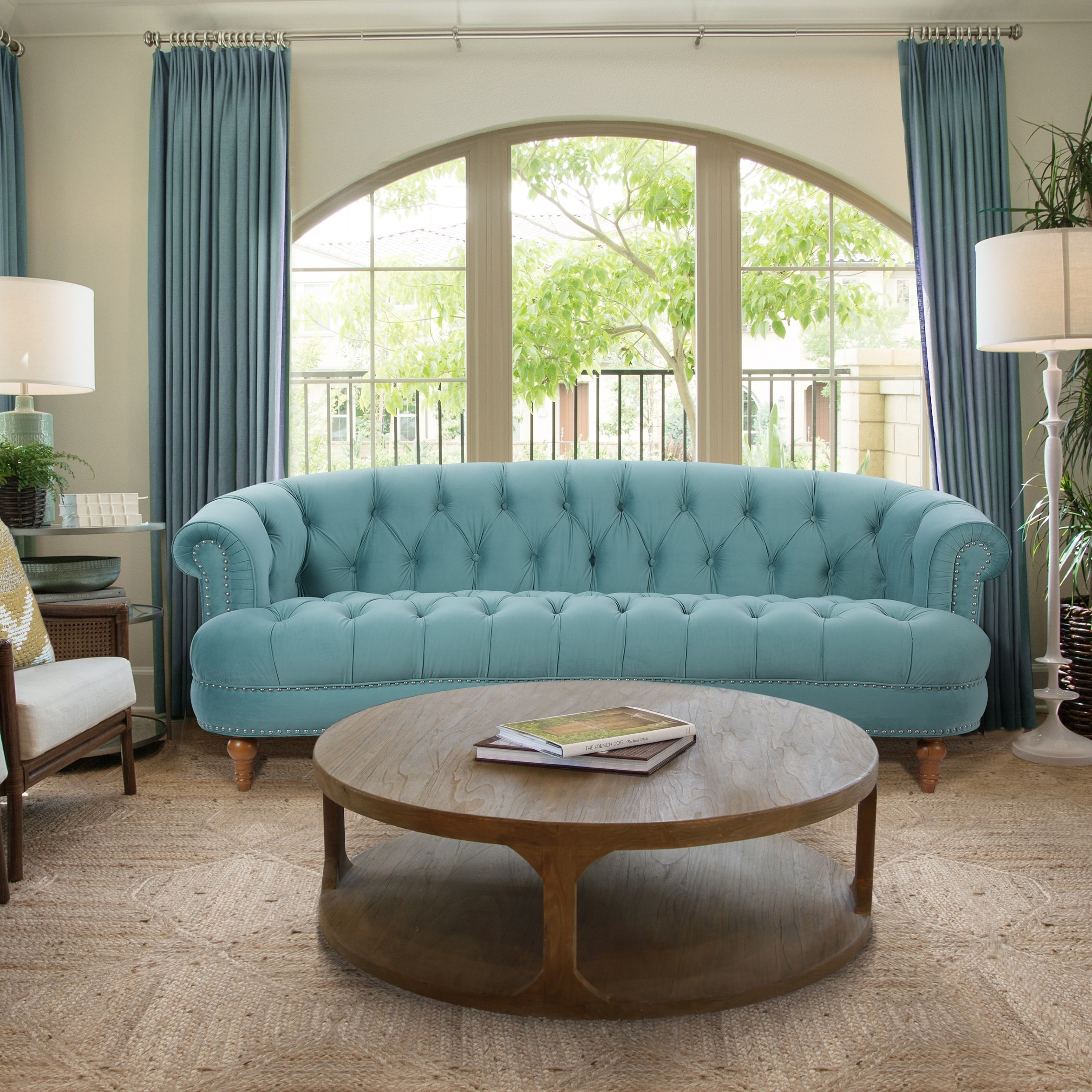 Shop Jennifer Taylor La Rosa Chesterfield Sofa   On Sale   Free Shipping  Today   Overstock.com   10046633
