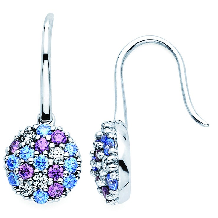 523fdd17a Shop Lotopia 925 Sterling Silver Ocean Blue Swarovski elements Zirconia  Drop Round Earrings - On Sale - Free Shipping Today - Overstock.com -  10050290