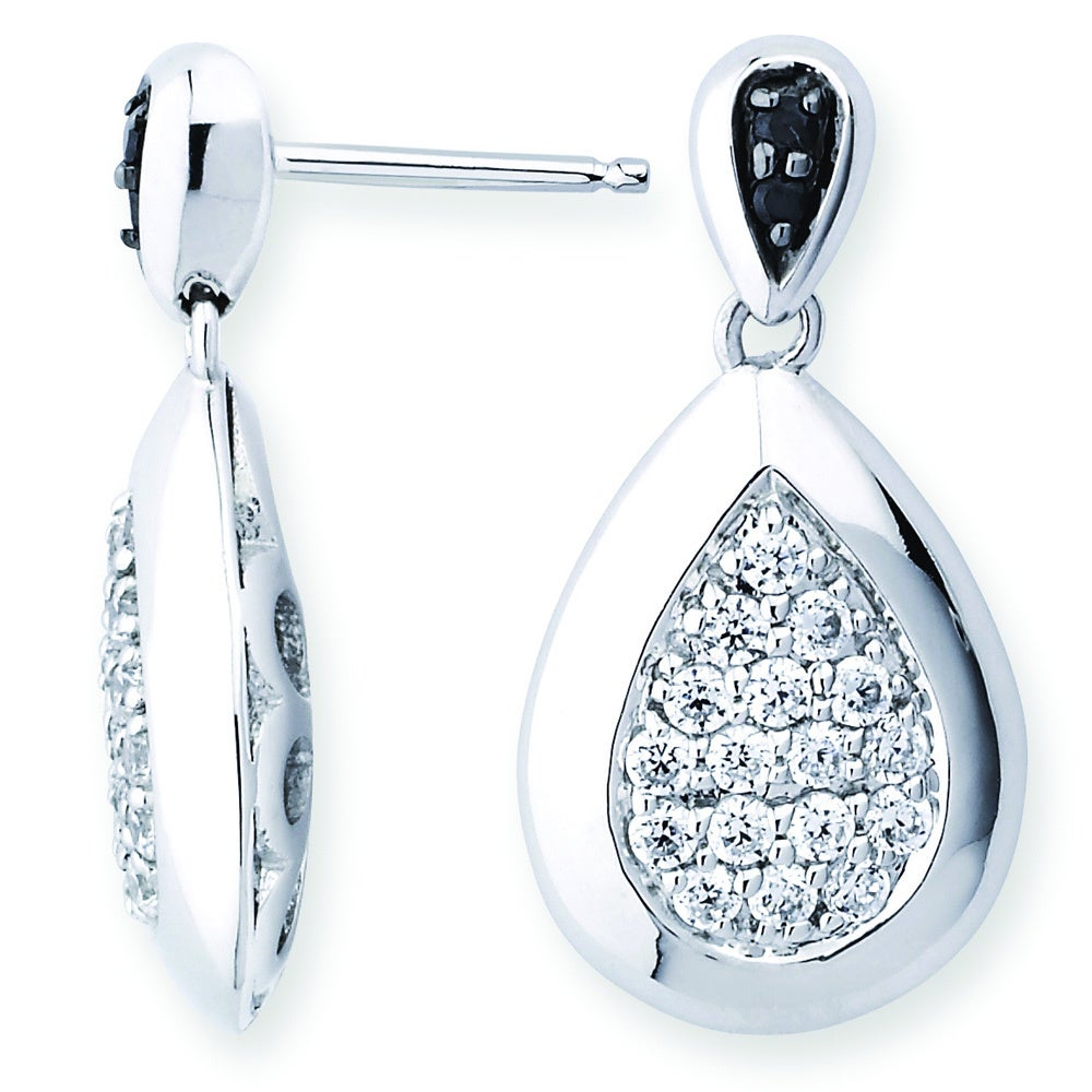b5bf8a312 Shop Lotopia 925 Sterling Silver White Swarovski Zirconia Love Teardrop  Earrings - On Sale - Free Shipping Today - Overstock - 10050295