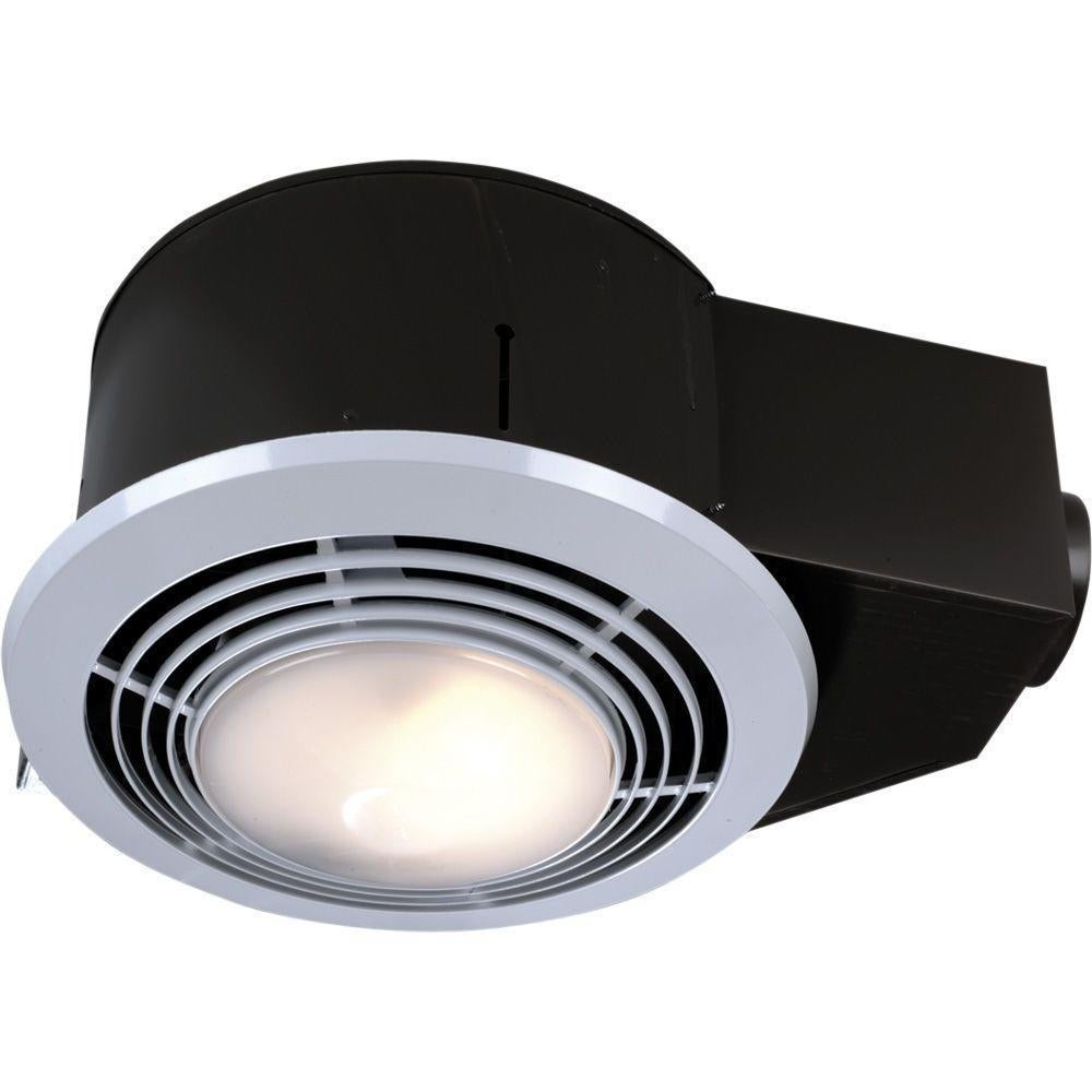Shop Broan NuTone 100 CFM Ceiling Exhaust Fan with Light and Heater ...