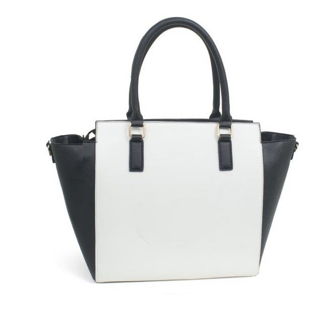 Rebecca And Rifka Two Tone Saffiano Faux Leather Tassel Tote Free Shipping Today 10052649