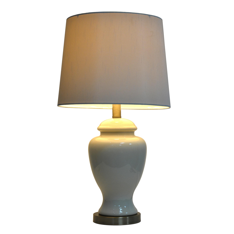 Shop Copper Grove Hersey 24 Inch Cream Ceramic Table Lamp Free