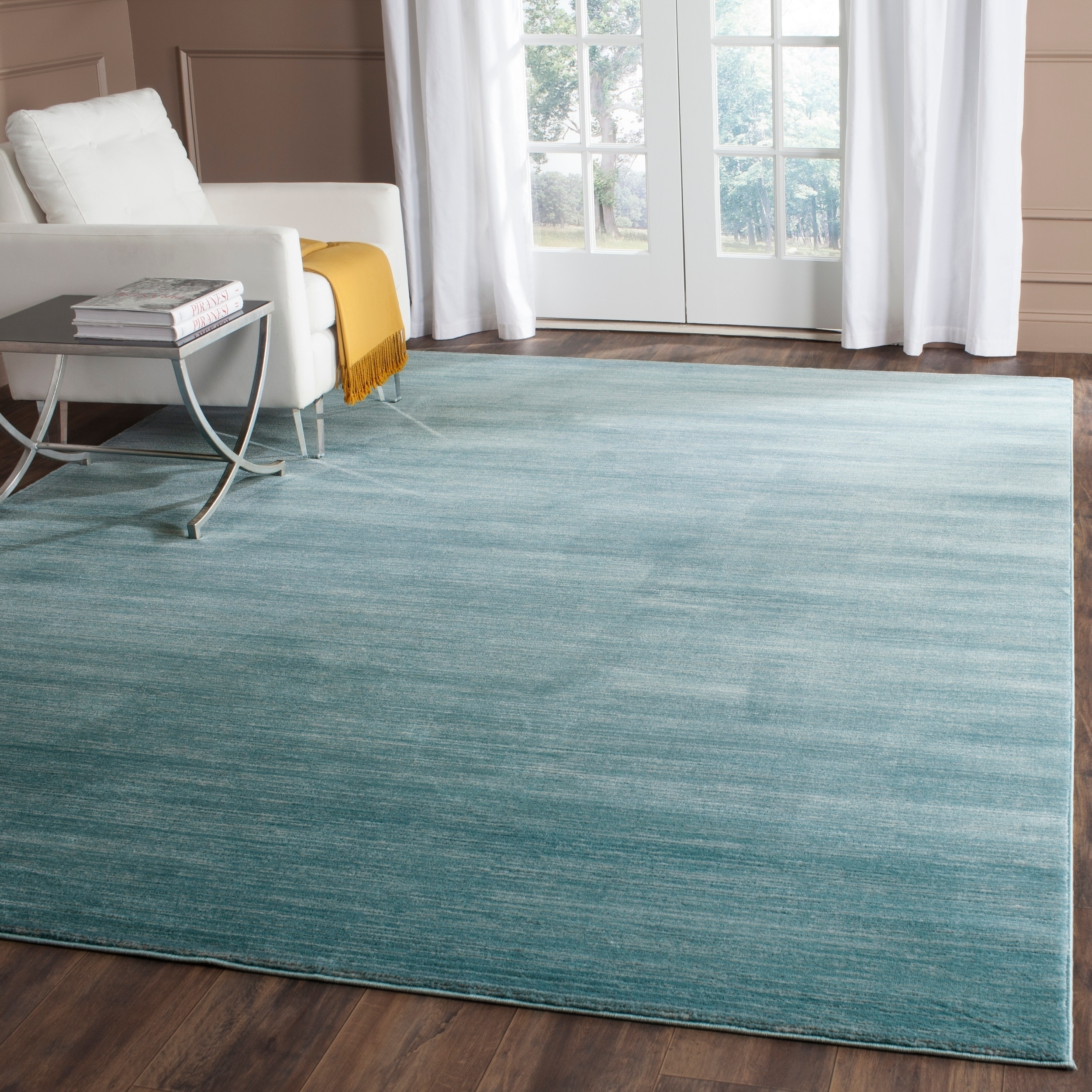 Shop Safavieh Vision Contemporary Tonal Aqua Blue Area Rug 8 X 10