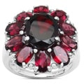 Malaika 8.45 Carat Genuine Garnet and Rhodolite .925 Sterling Silver Ring