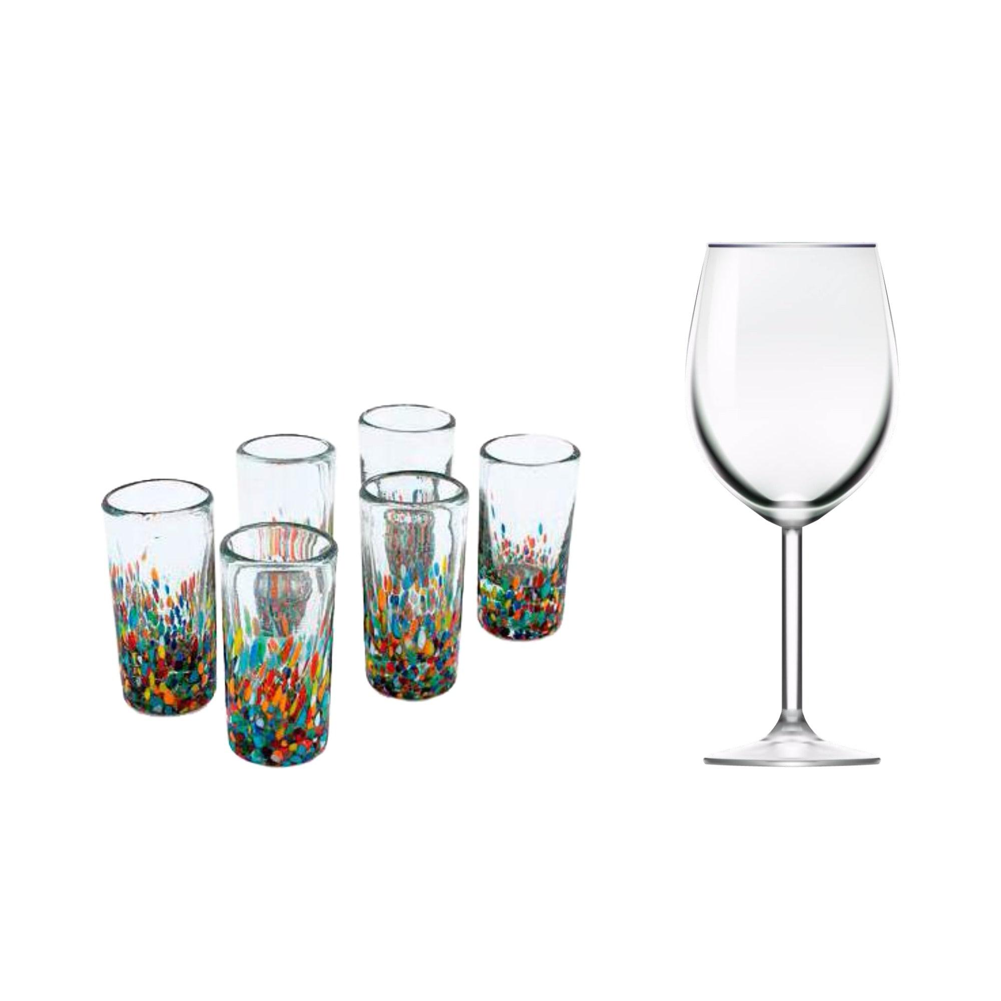 pieces glasses product chairish vaseline decor pour decorative glass antique and shot