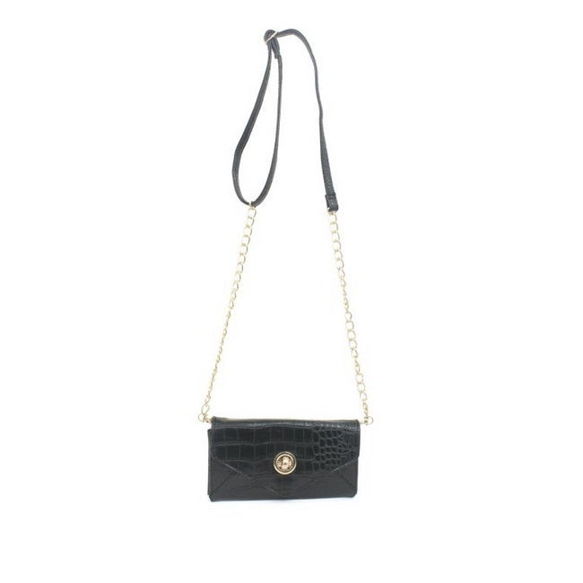 Rebecca And Rifka Croc Embossed Faux Leather Crossbody On Free Shipping Orders Over 45 10059424