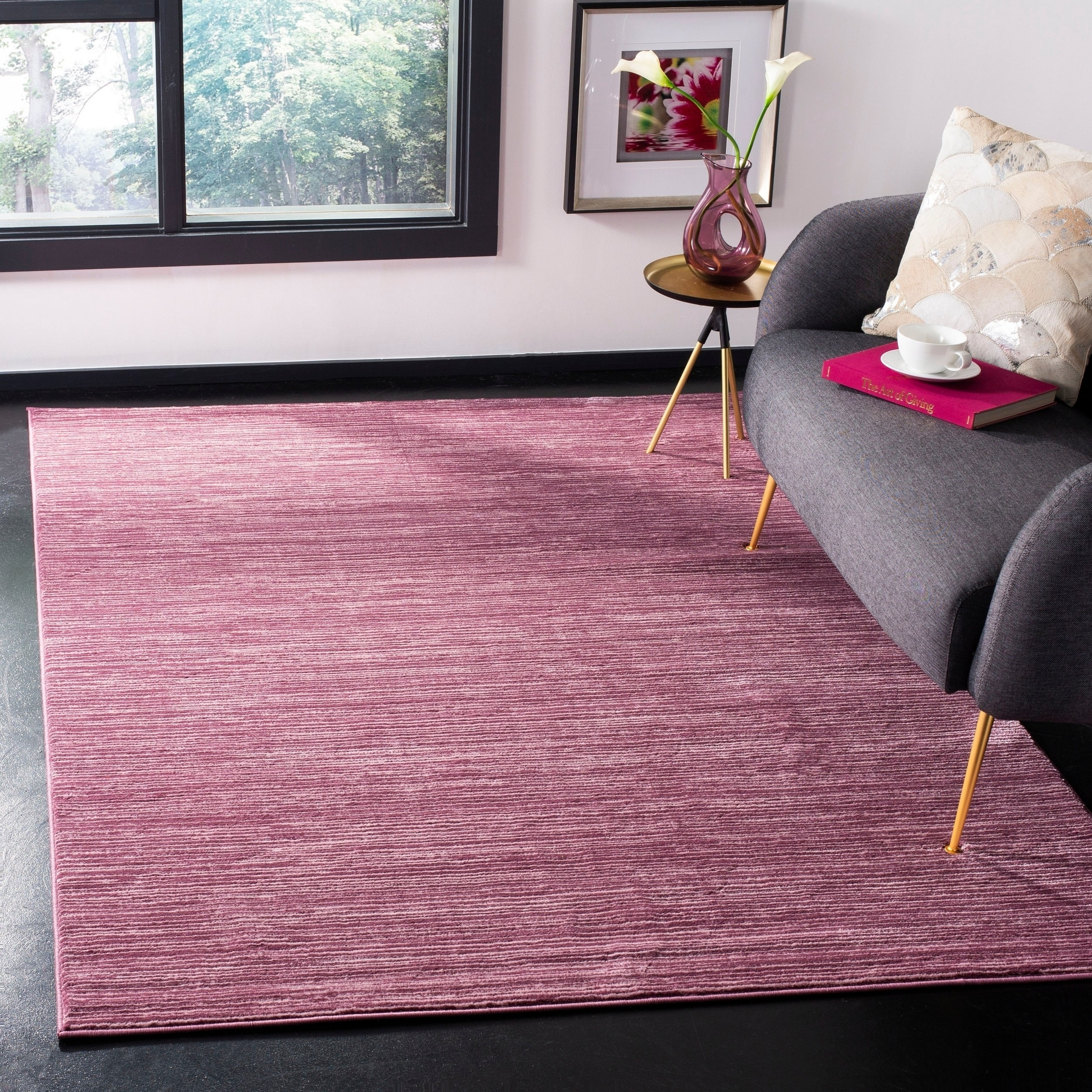 Shop Safavieh Vision Contemporary Tonal Purple Pink Area Rug 4 X