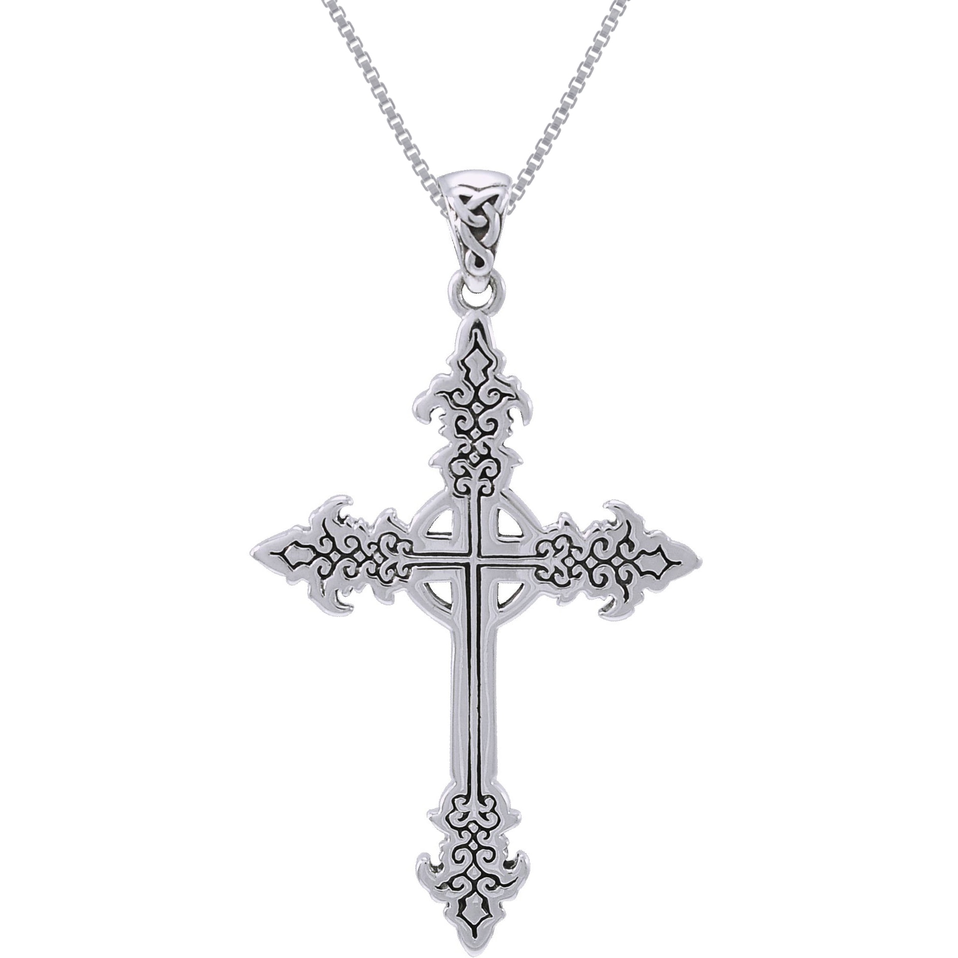 jewelry necklace bling cross sterling with pendant gemstone silver garnet celtic