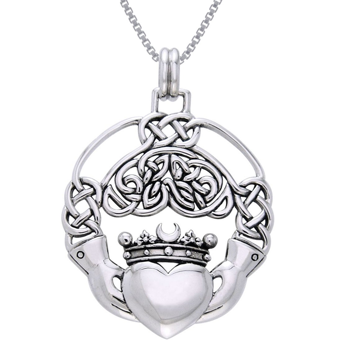 necklace htm silver claddagh ups p pendant