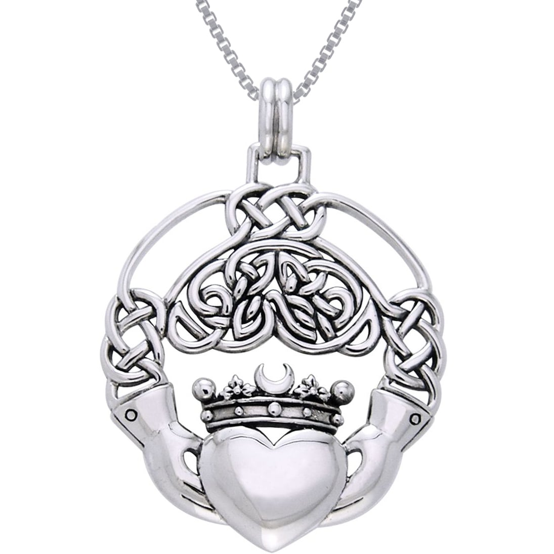 pendant marble htm p ls chain necklace silver connemara claddagh w