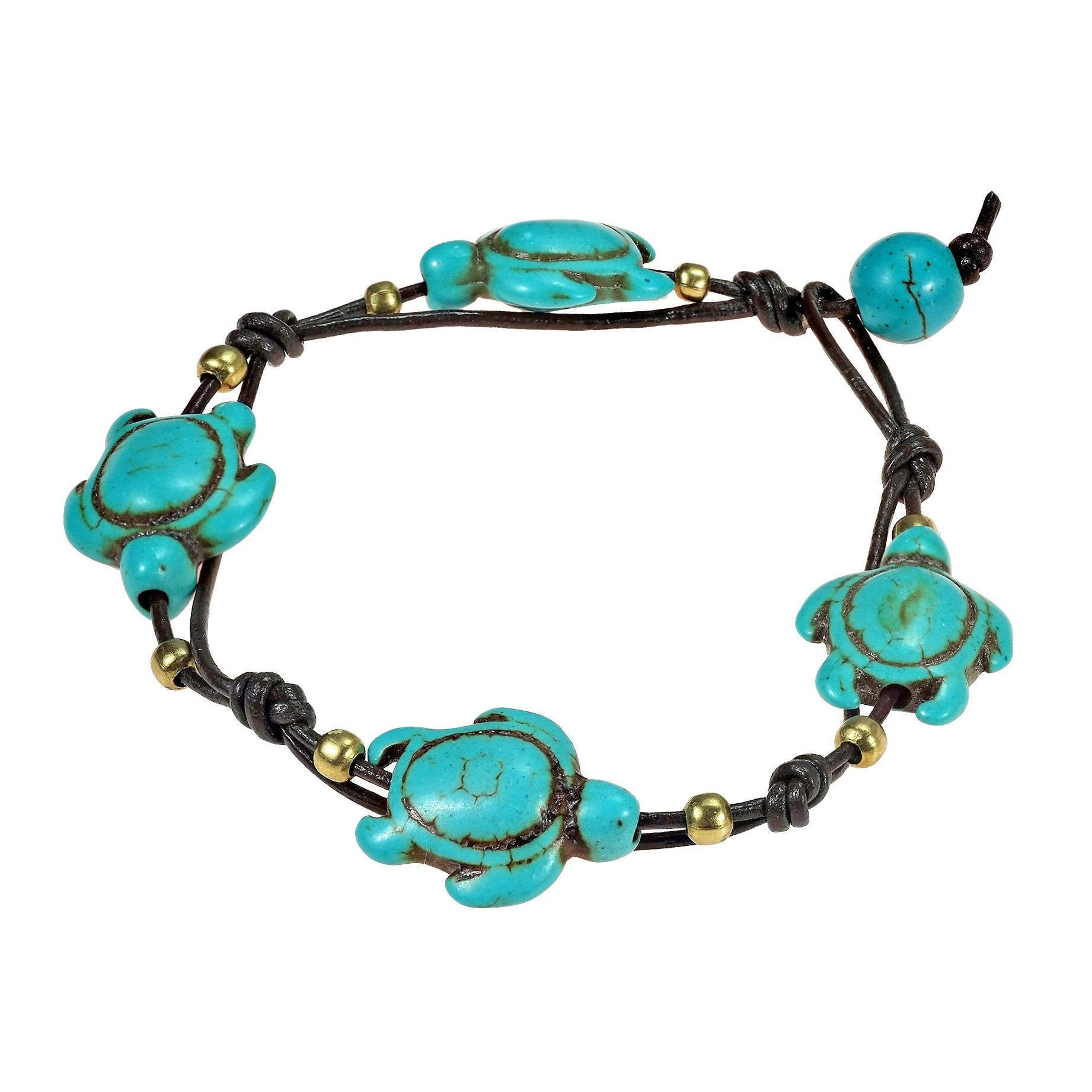 image turquoise braceletsdude sea products beaded gold turtle bracelet grey filled