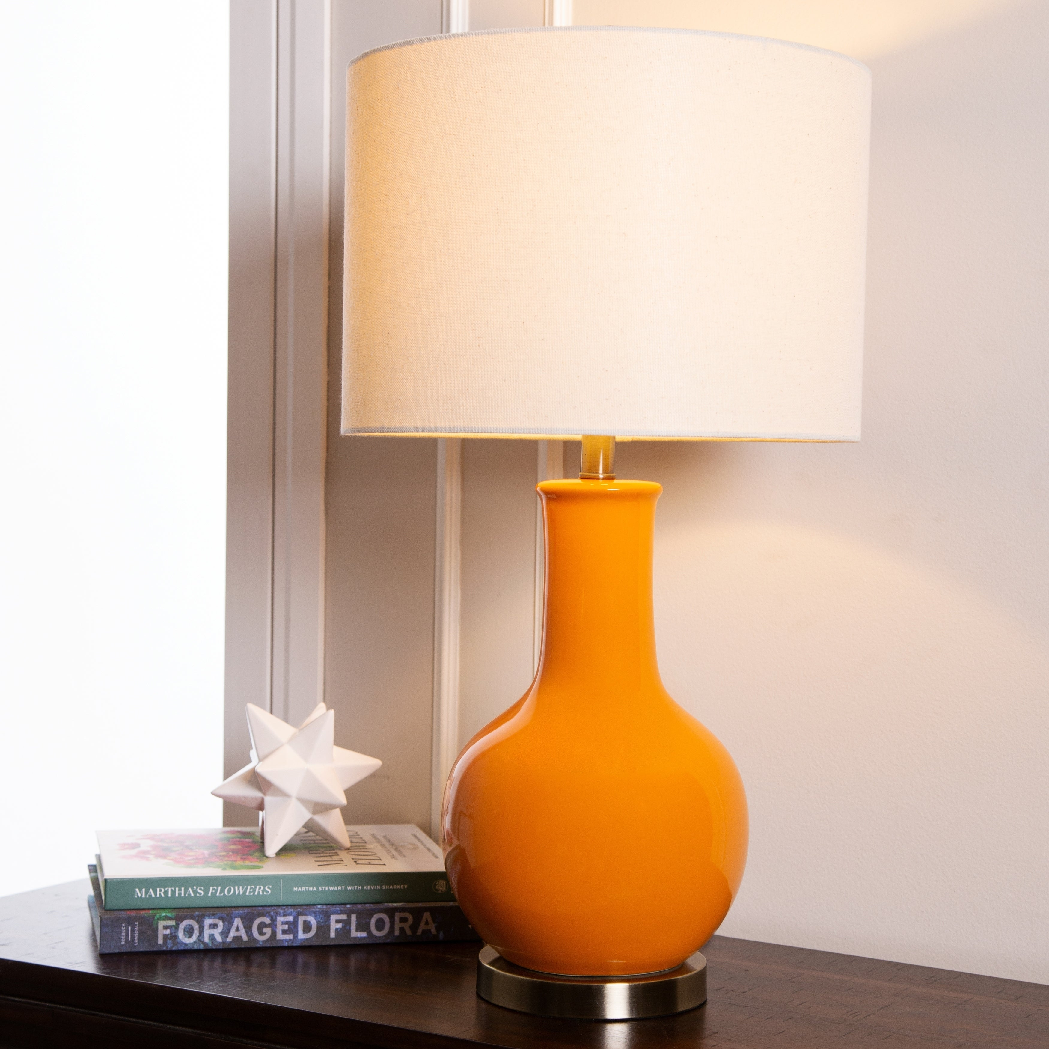 Abbyson Gourd Orange Ceramic 29 Inch Table Lamp On Free Shipping Today 10061614