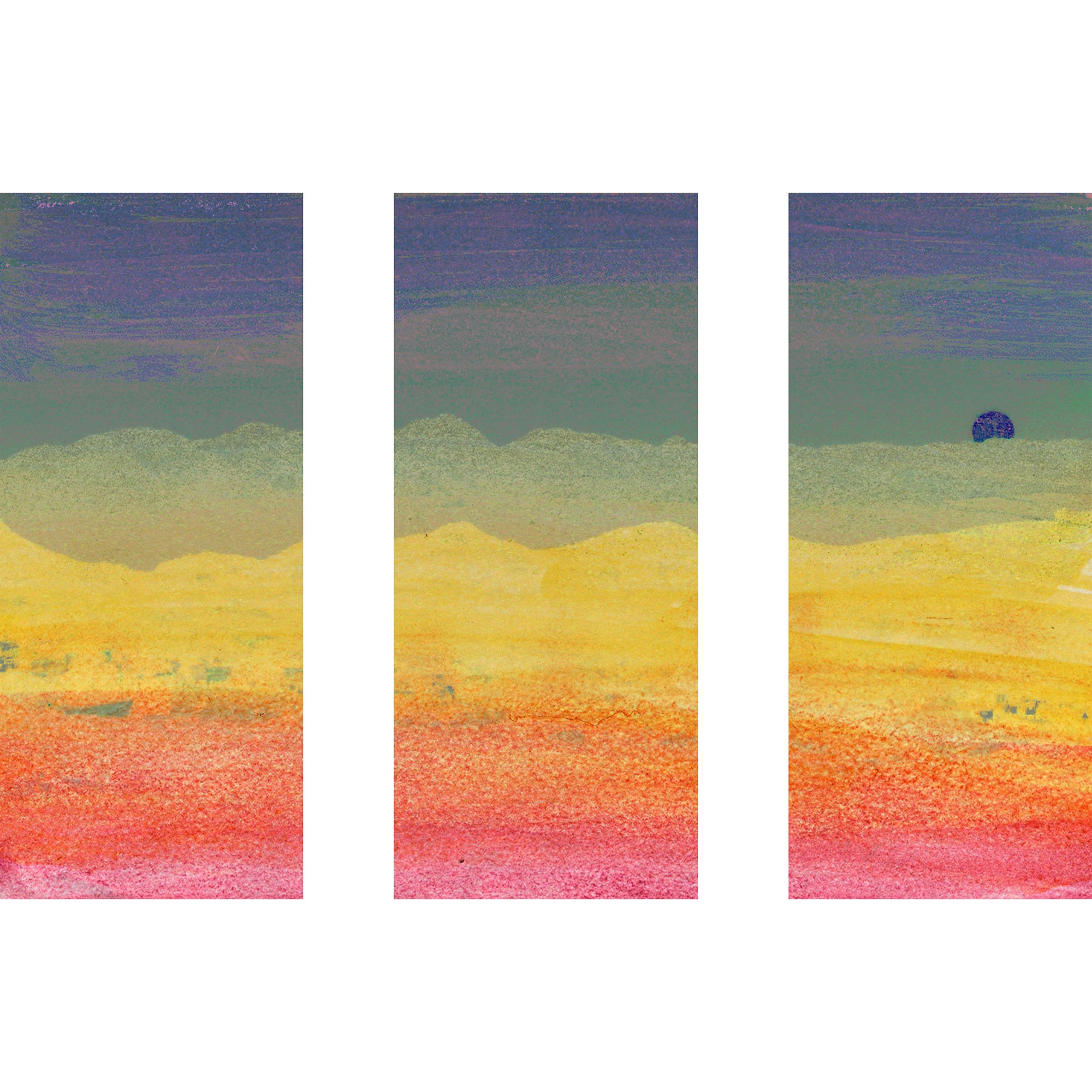 Shop Marmont Hill \'Desert Sun Triptych\' Canvas Art - Multi-color ...