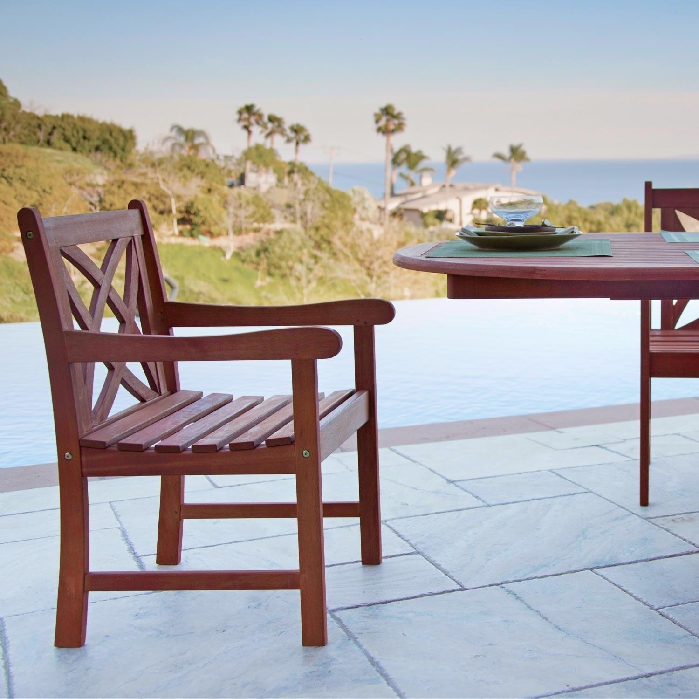 Malibu Eco Friendly 5 Piece Wood Outdoor Dining Set V98set6 Free Shipping Today 17207420