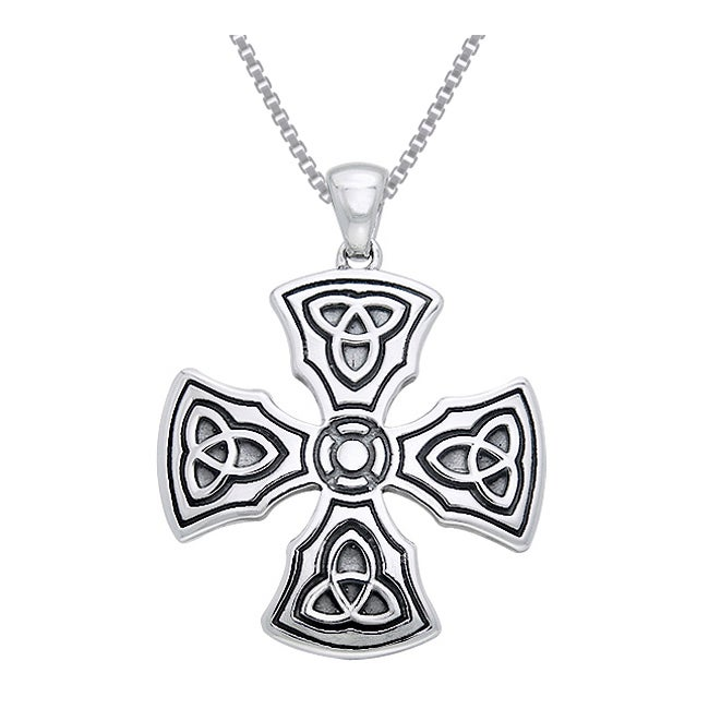Shop sterling silver celtic trinity knights templar cross pendant shop sterling silver celtic trinity knights templar cross pendant free shipping today overstock 10062626 aloadofball Images