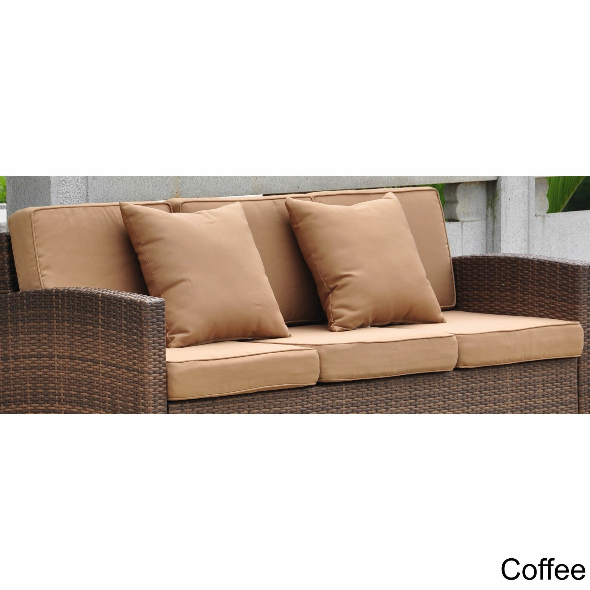 International Caravan Corded Replacement Cushions And Pillows For Barcelona Sofa Set Of 8 On Free Shipping Today 10062656