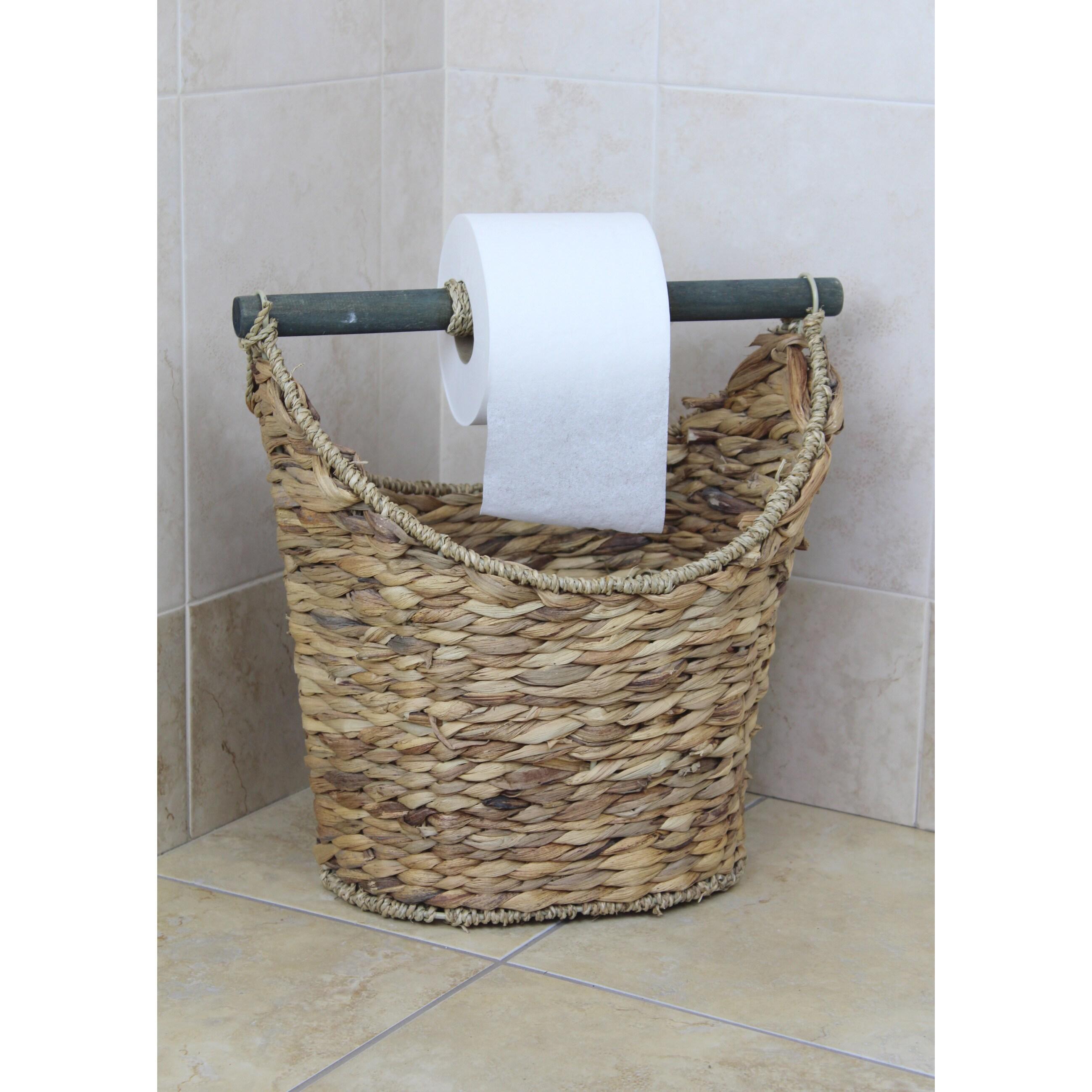 Shop Rustic Toilet Paper Holder Magazine Basket