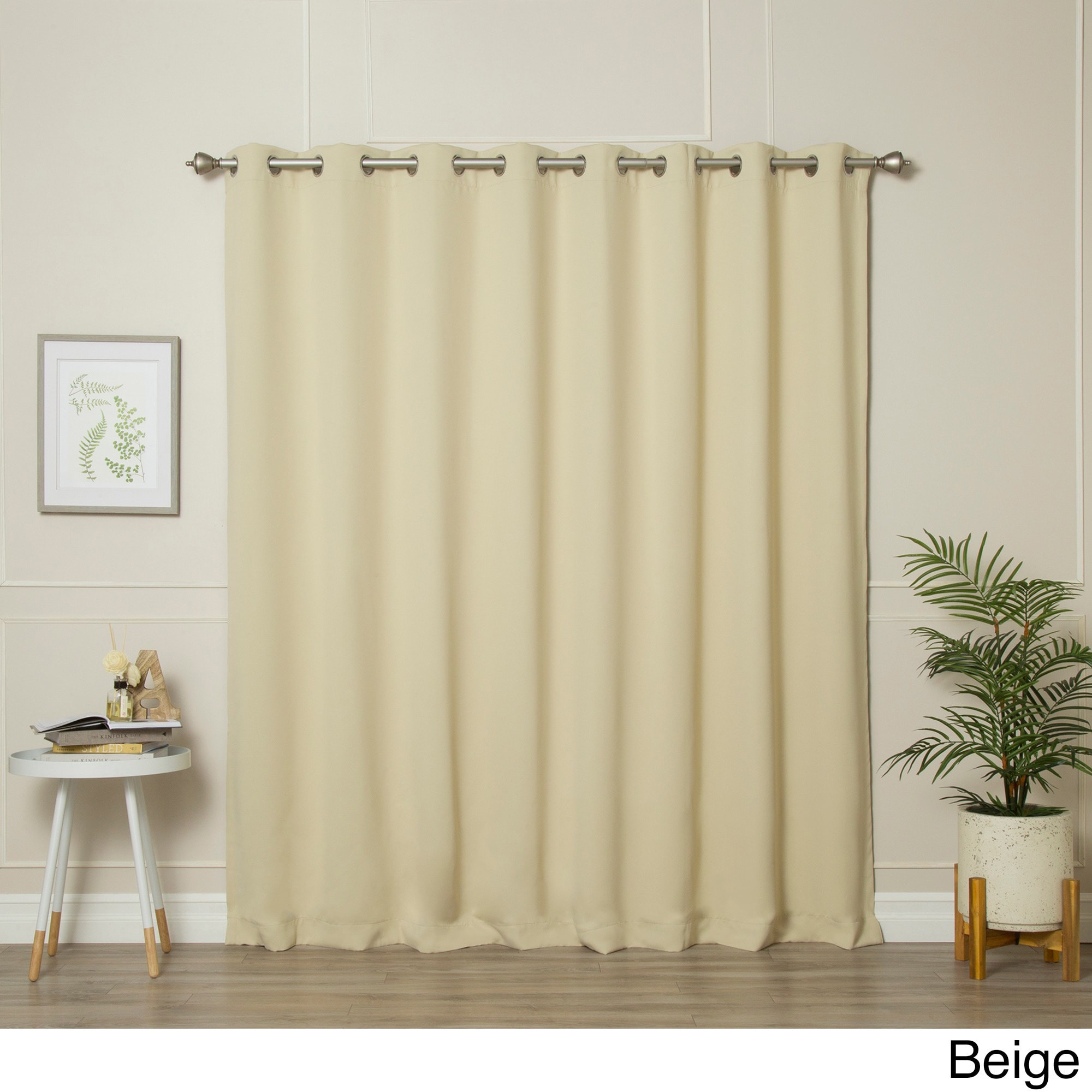 Aurora Home Extra Wide Thermal Insulated 84 Inch Blackout Curtain Panel 100 X