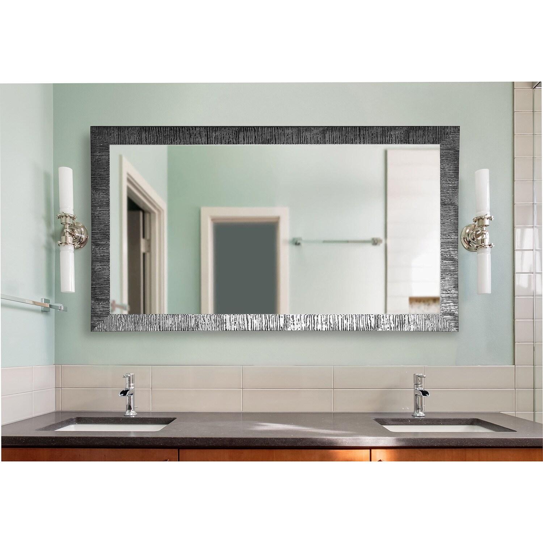 Shop American Made Extra Large Safari Silver Wall/ Vanity Mirror ...
