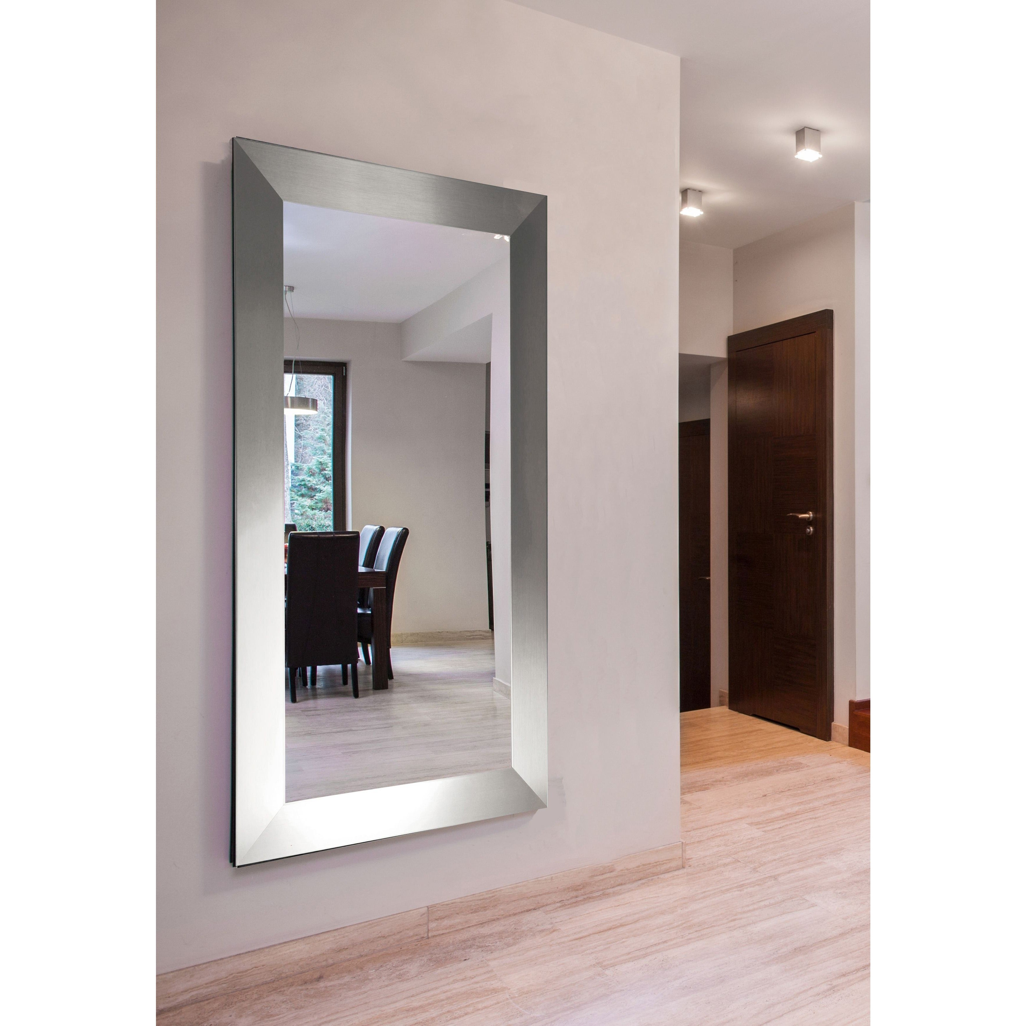 American Made Extra Large Silver Wide Floor Vanity Mirror Free Shipping Today 10067578